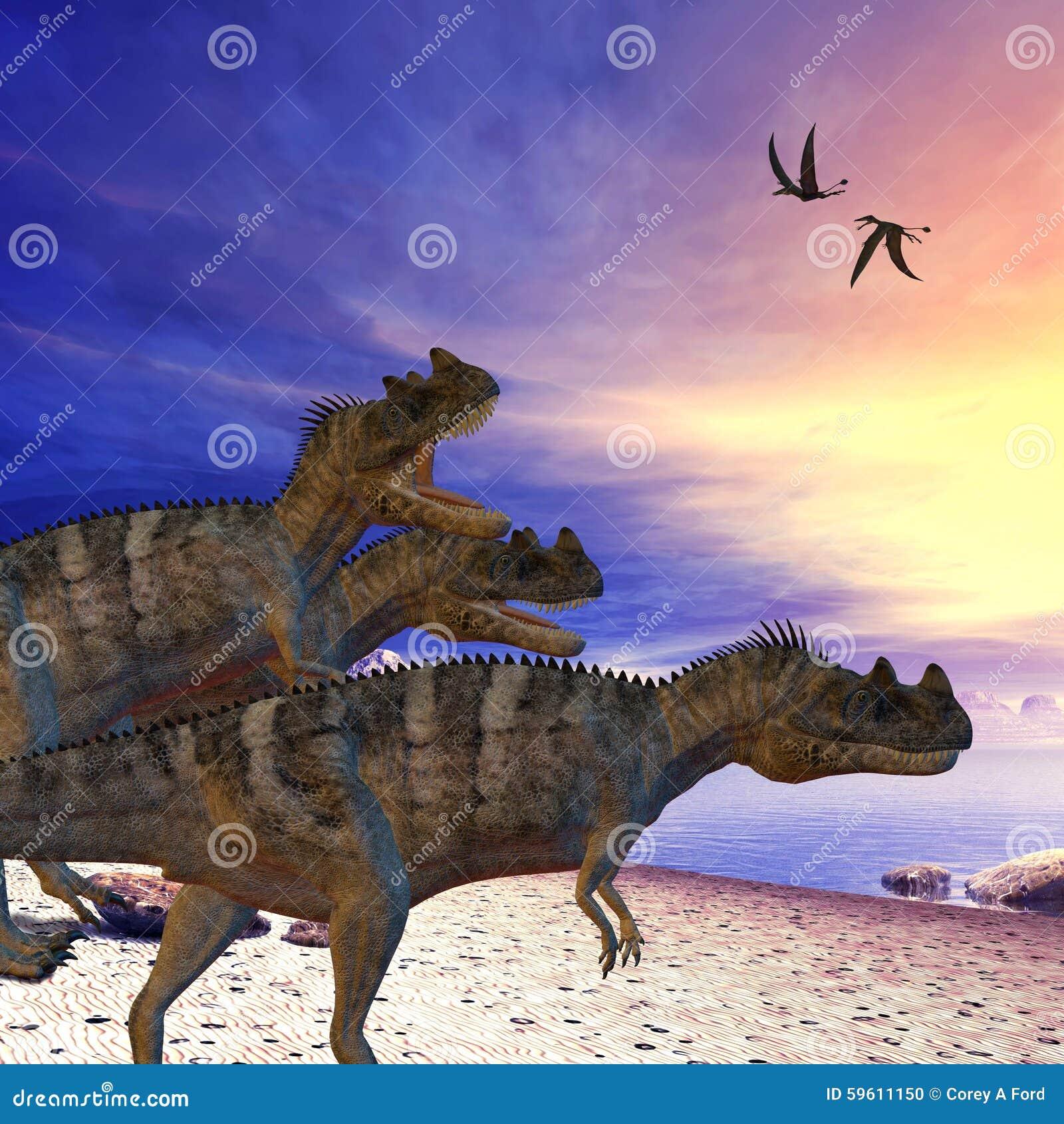 Ceratosaurus sur le vagabondage