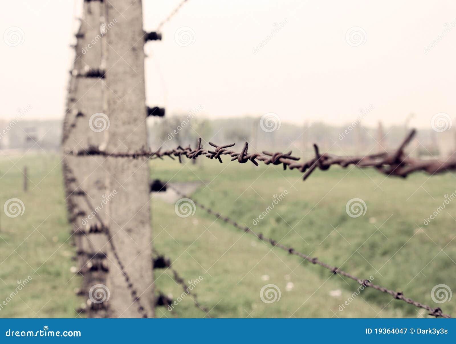 Cerca do arame farpado de Auschwitz