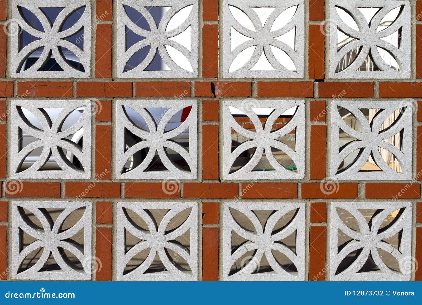 Cerca ornamental fotograf a de archivo imagen 12873732 - Bloques de hormigon decorativos ...