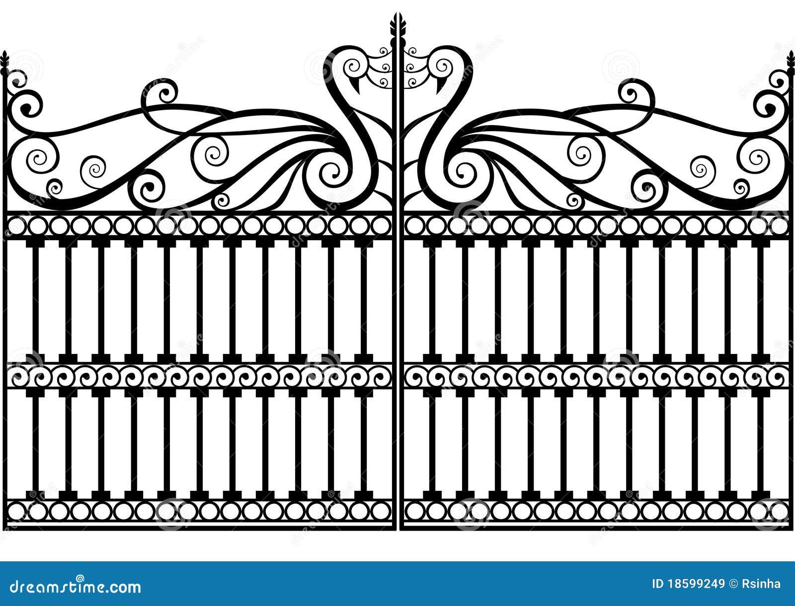 Cerca ou porta do ferro feito