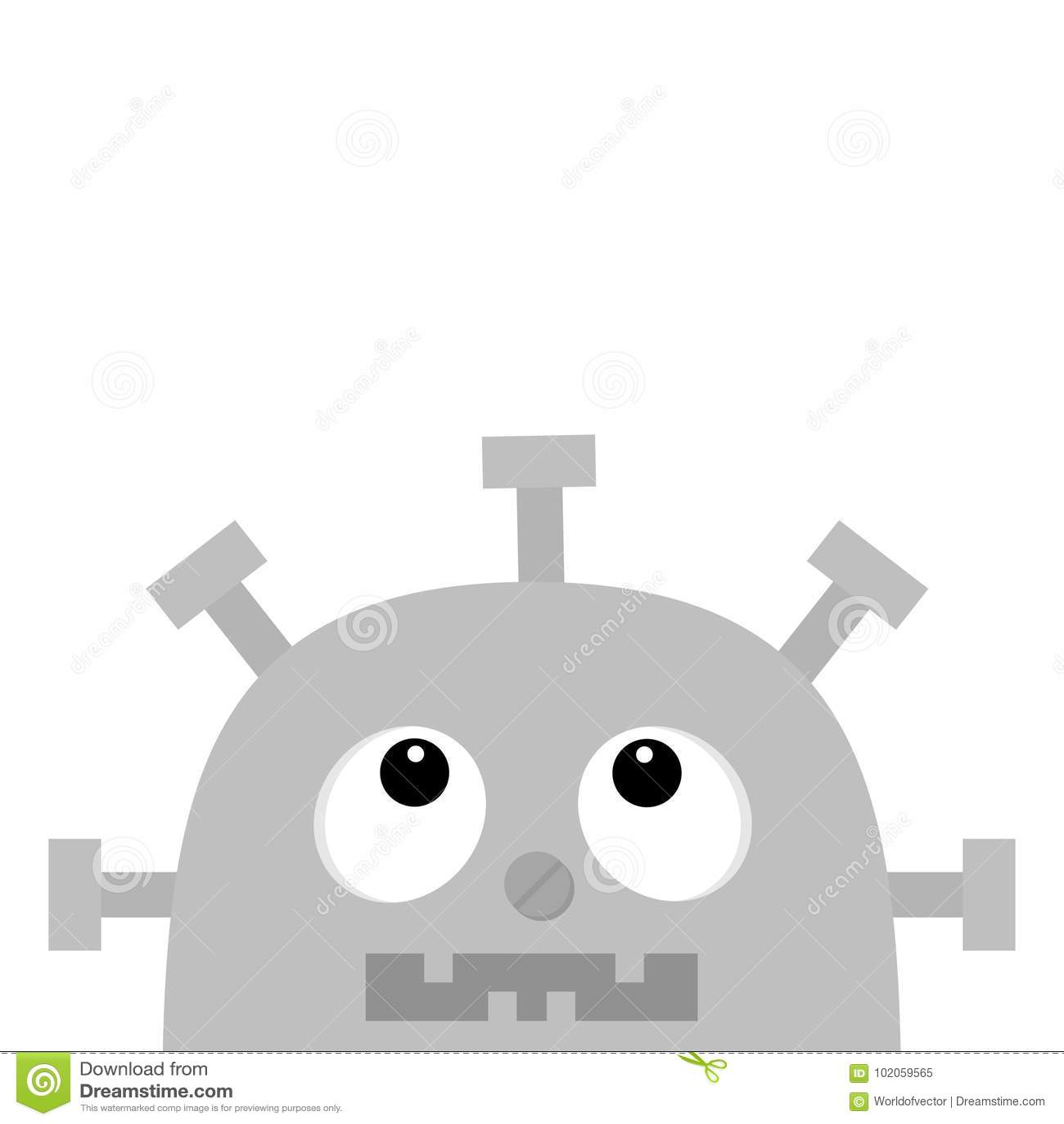 Cercare capo del fronte del robot avviti il naso il cuore dell
