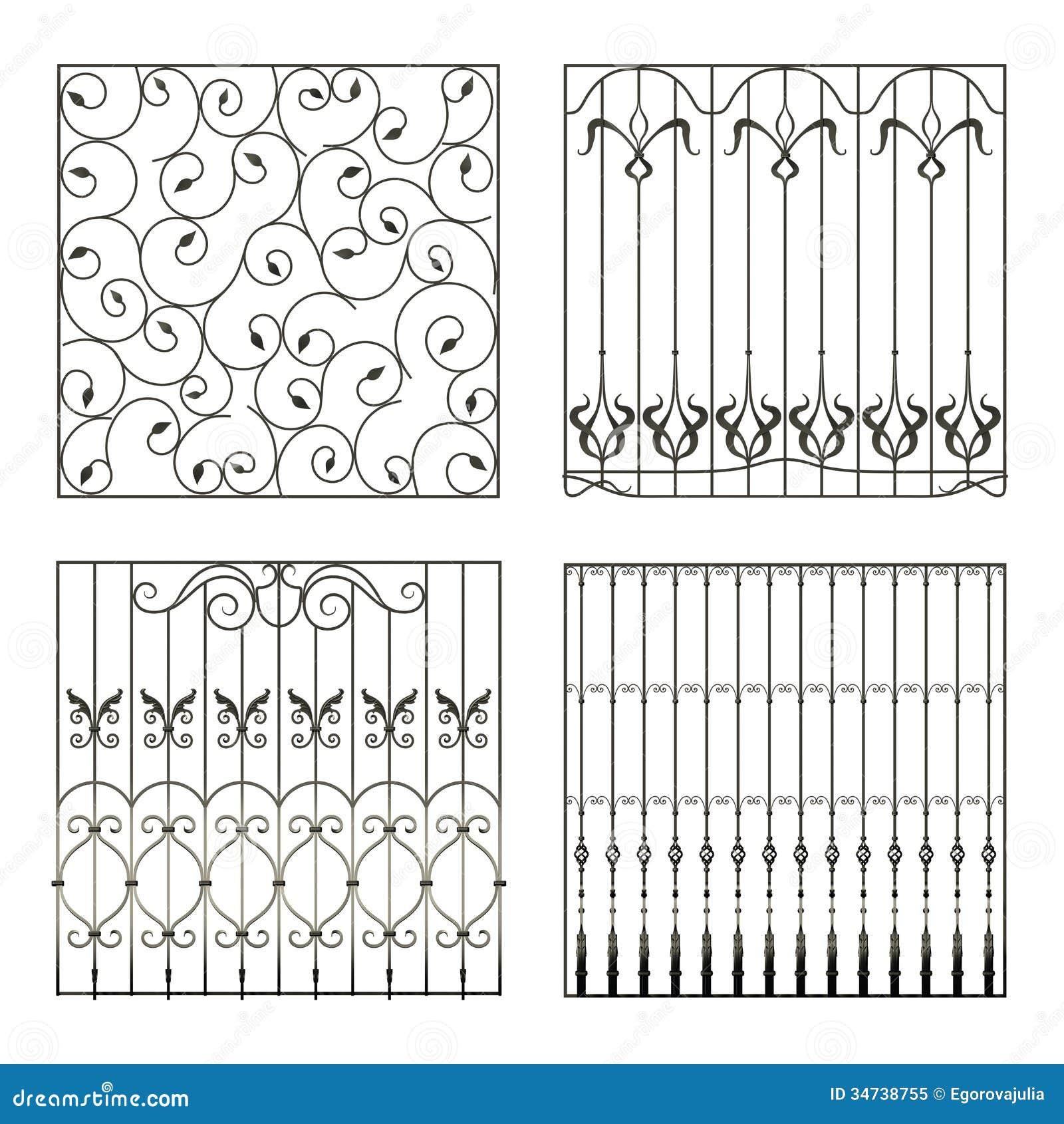 Cercas del hierro stock de ilustración. Ilustración de decoración ...
