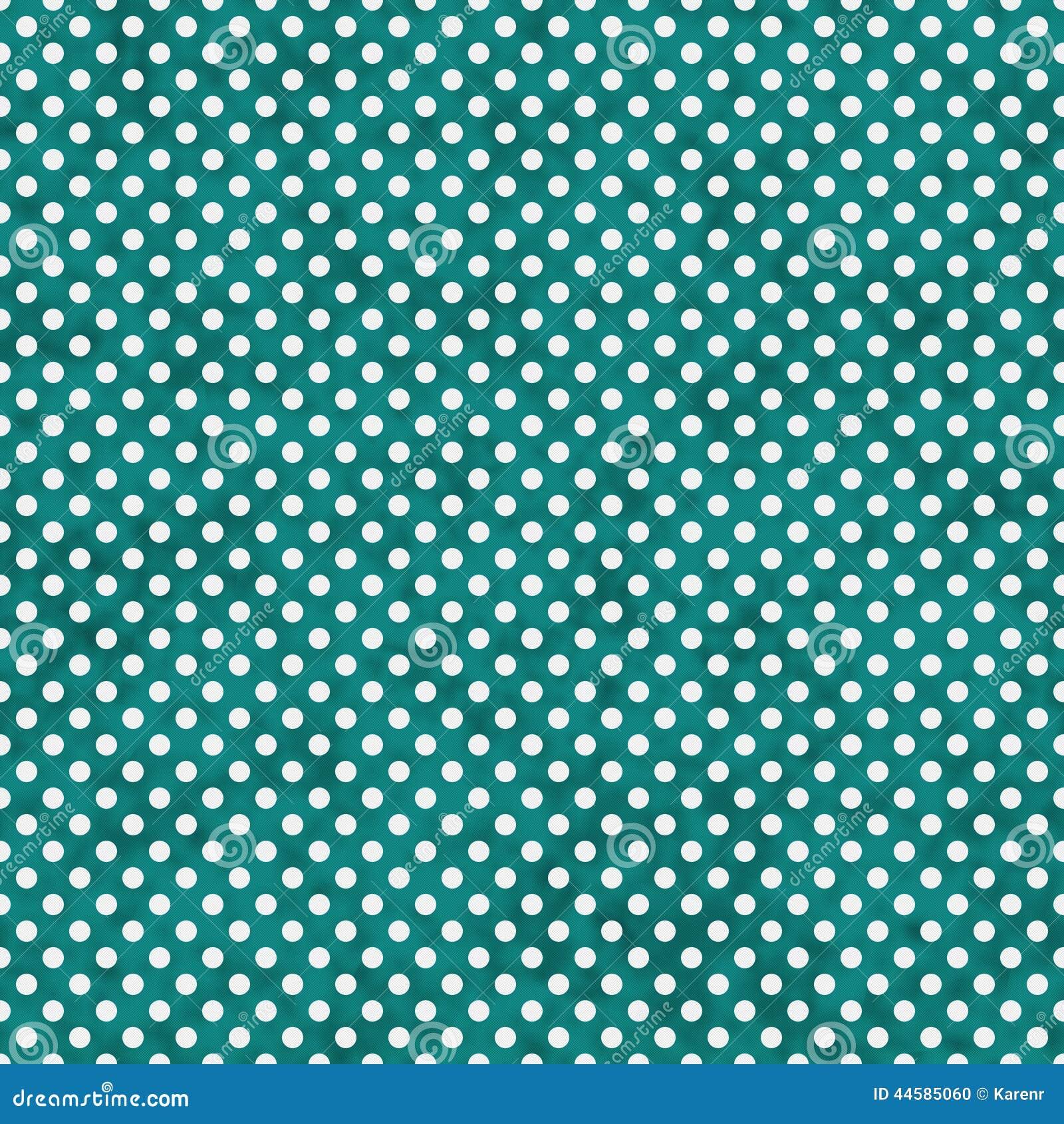 Cerceta brilhante e polca pequena branca Dots Pattern Repeat Background