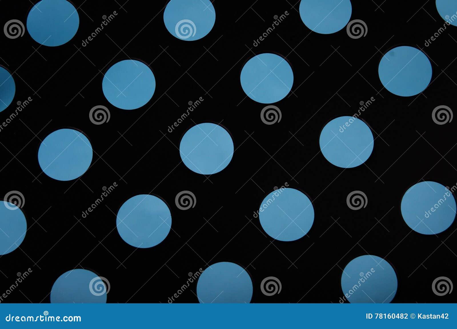 Cerchi blu su struttura nera del fondo