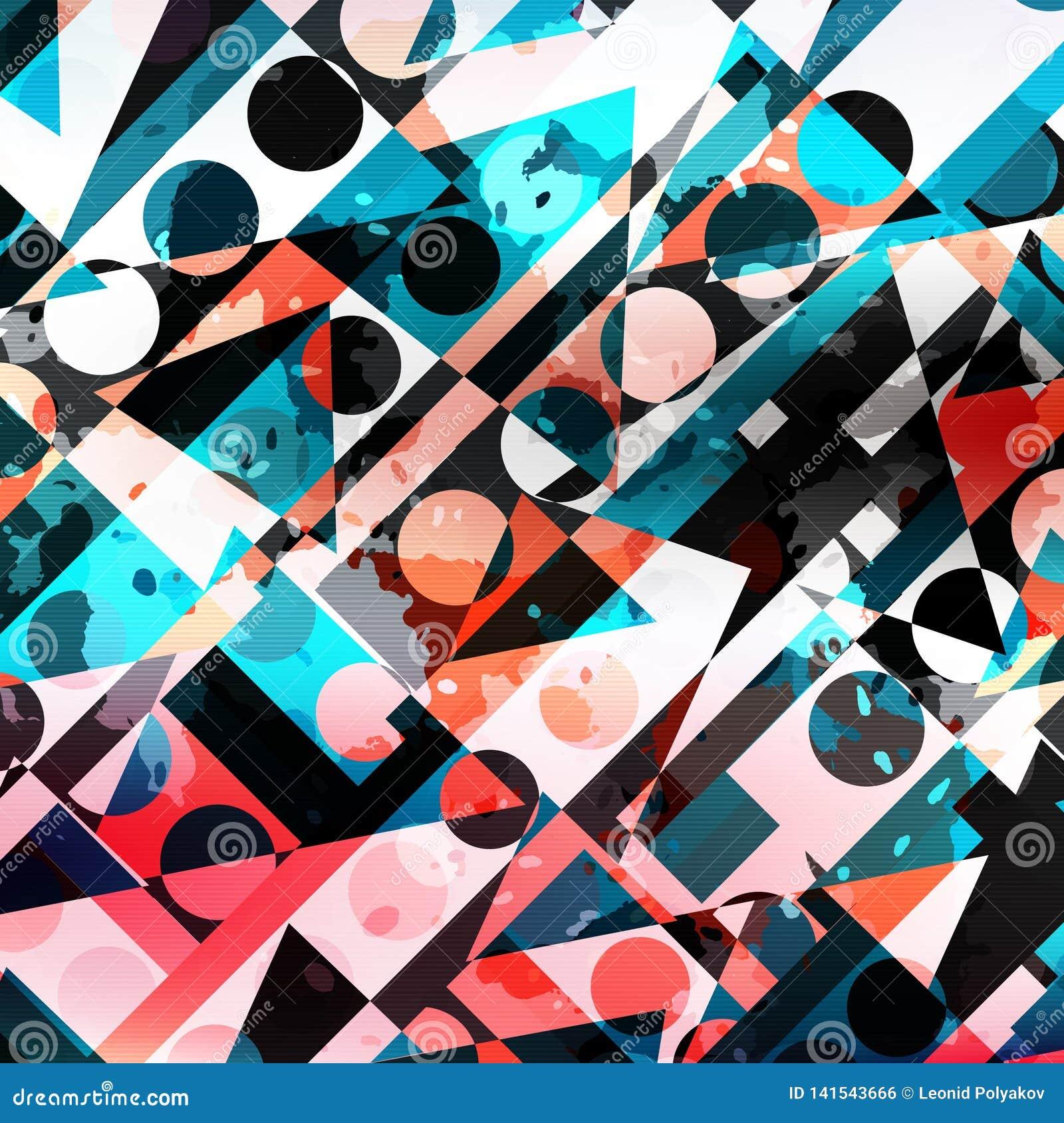 Cerchi colorati e modello astratto geometrico dei poligoni