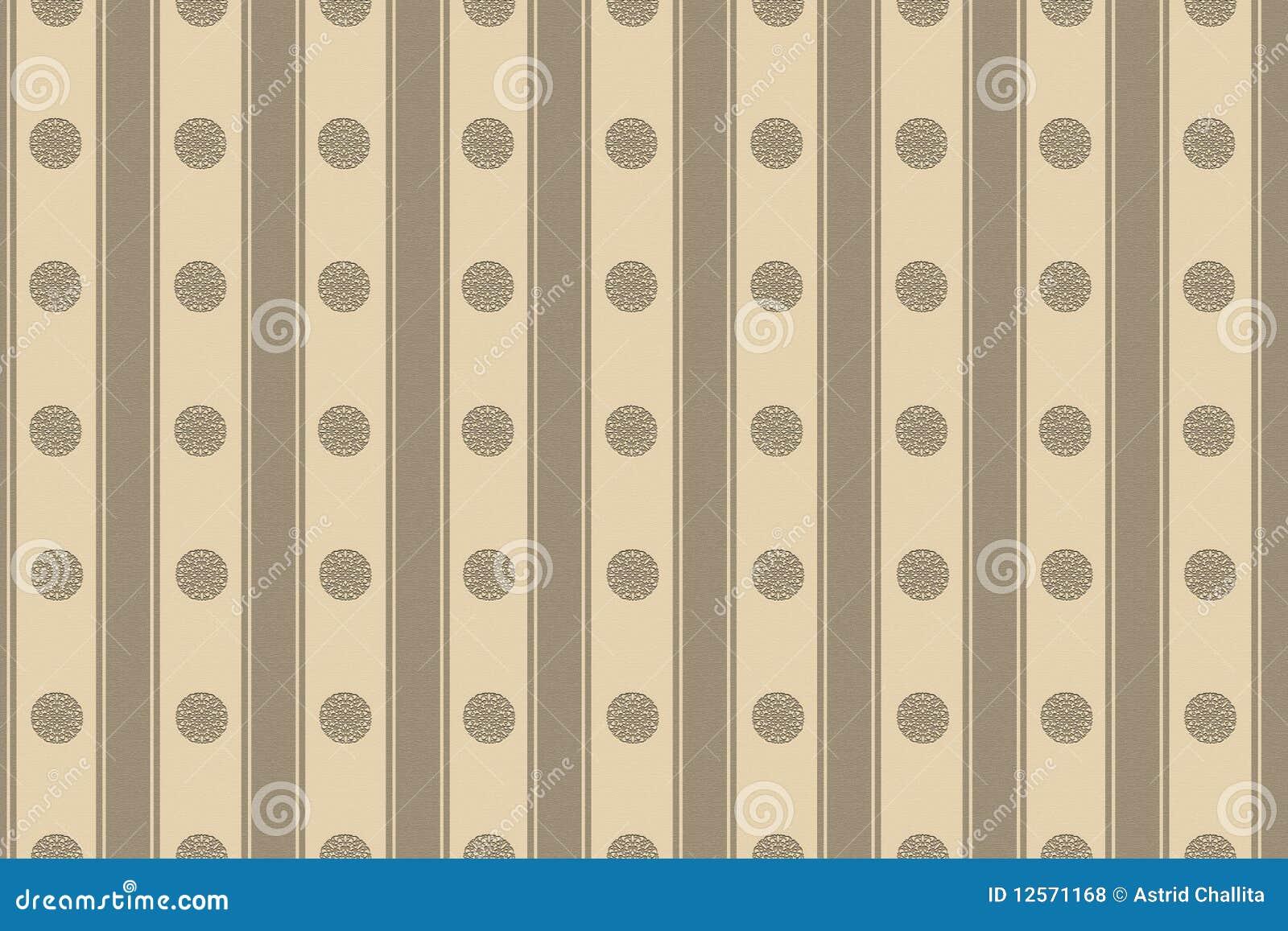 Cerchi e bande beige della carta da parati illustrazione for Carta da parati beige