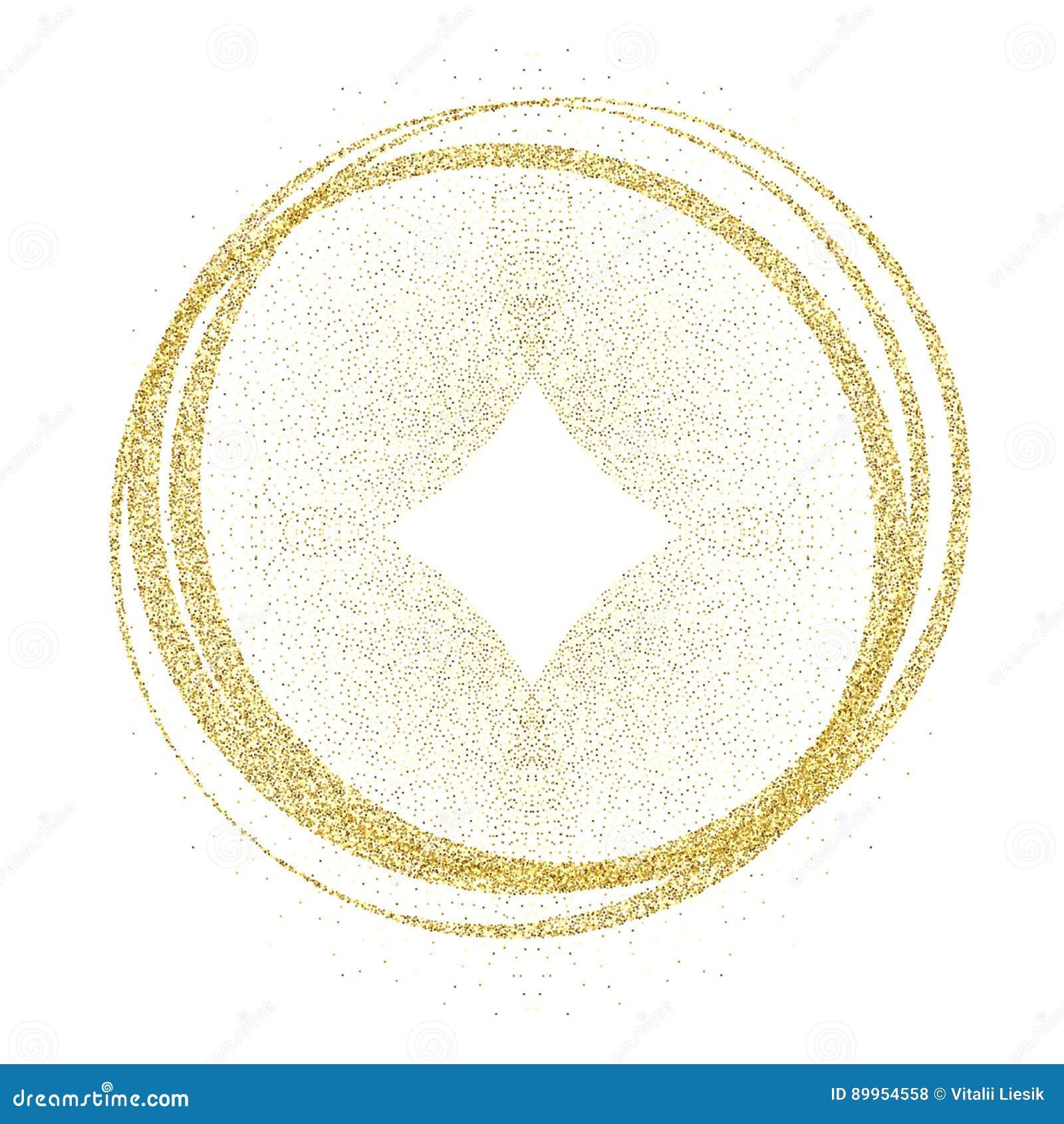 Cerchi ed anelli dorati Elemento di progettazione della decorazione di struttura di doratura della stagnola di oro Fondo festivo