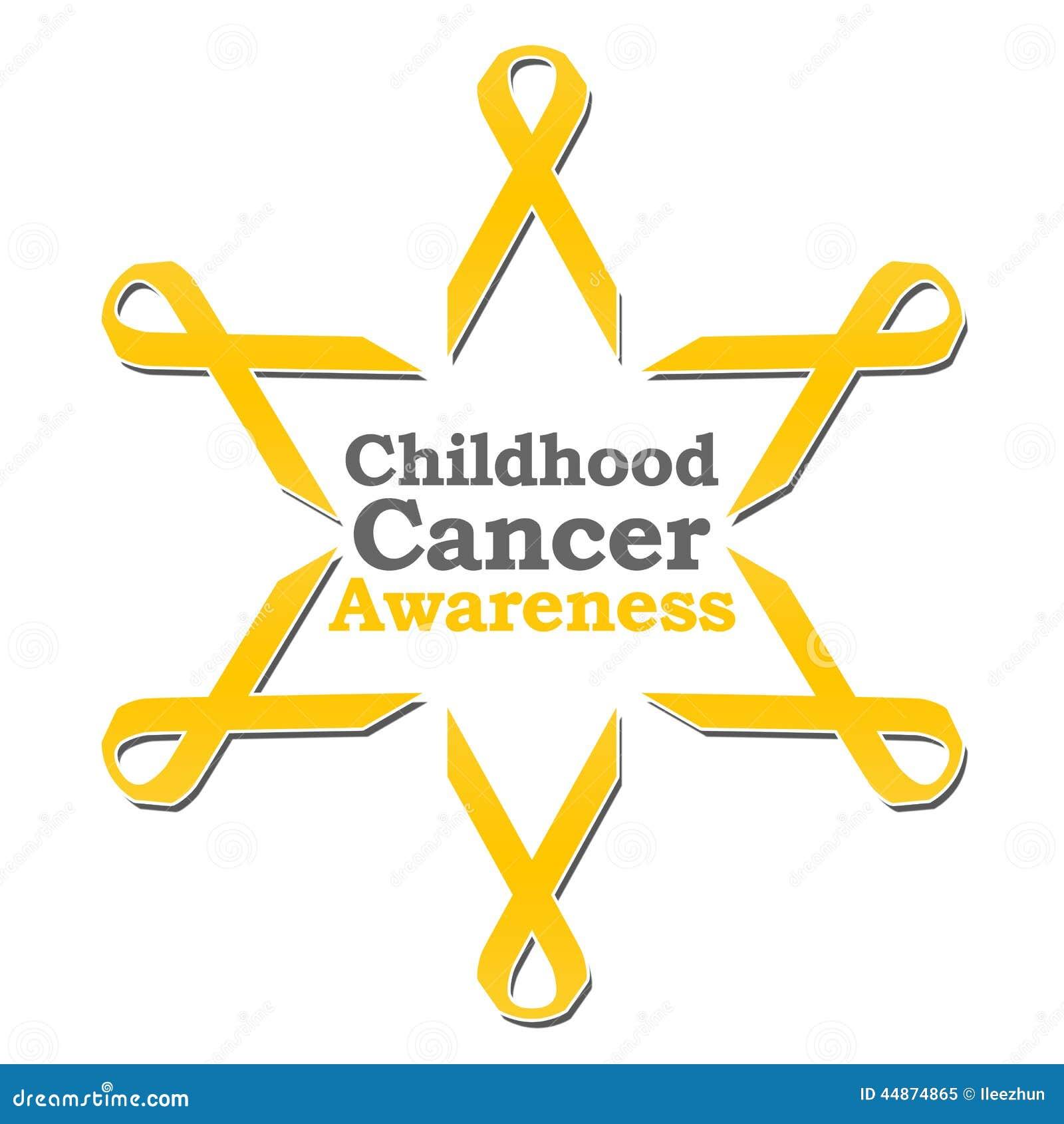 Cerchio del nastro di consapevolezza del Cancro di infanzia