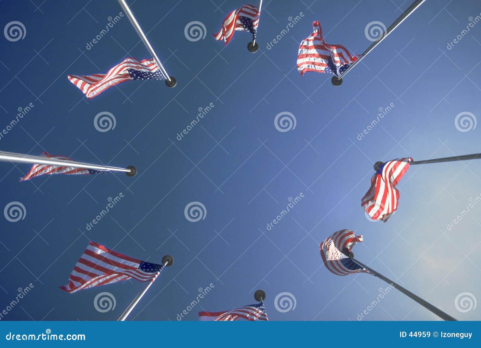 Cerchio delle bandierine degli Stati Uniti