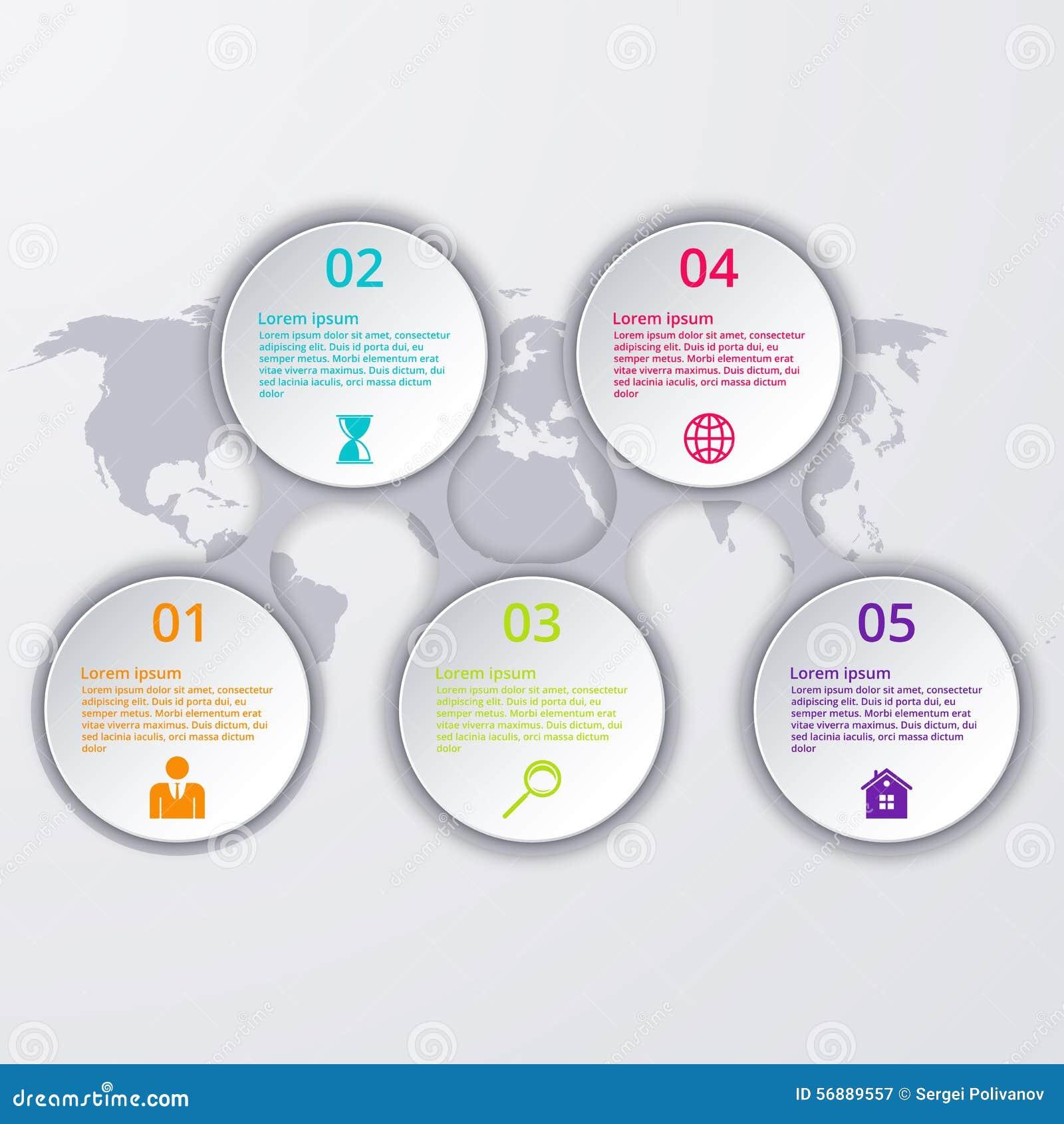Cerchio di cronologia di infographics dell illustrazione di vettore