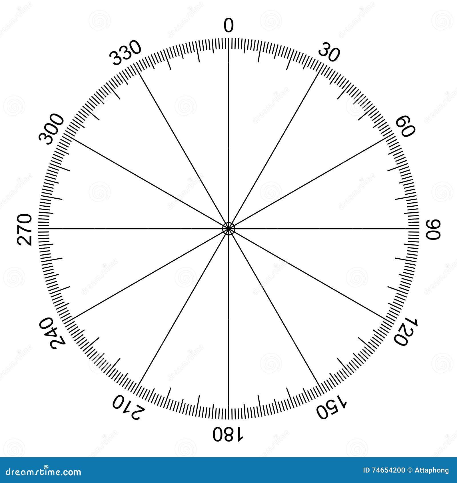 Cercle Avec Des Degrés Marqués Illustration de Vecteur - Image ...
