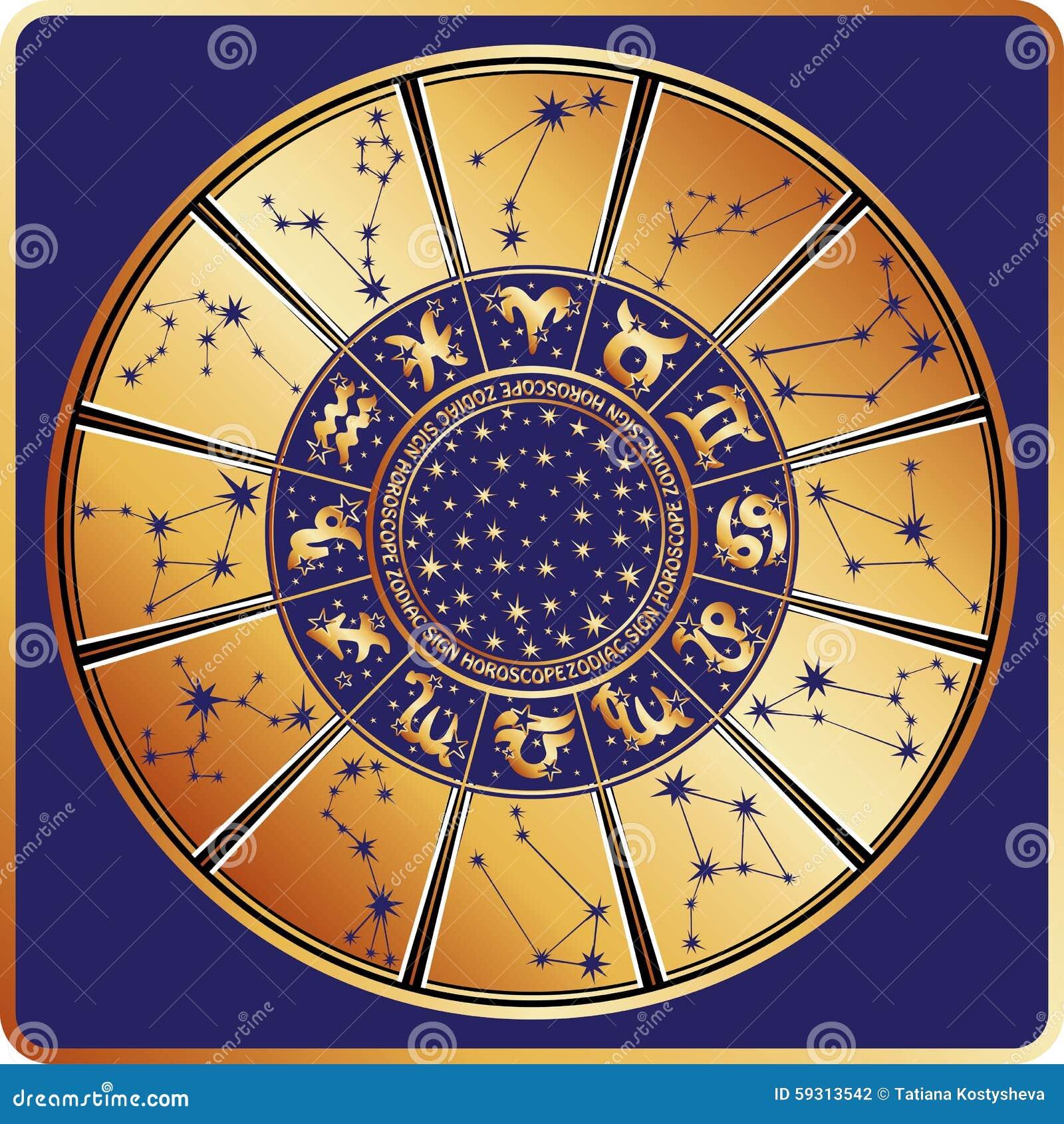 cercle d 39 horoscope signe de zodiaque constellations toiles illustration de vecteur. Black Bedroom Furniture Sets. Home Design Ideas