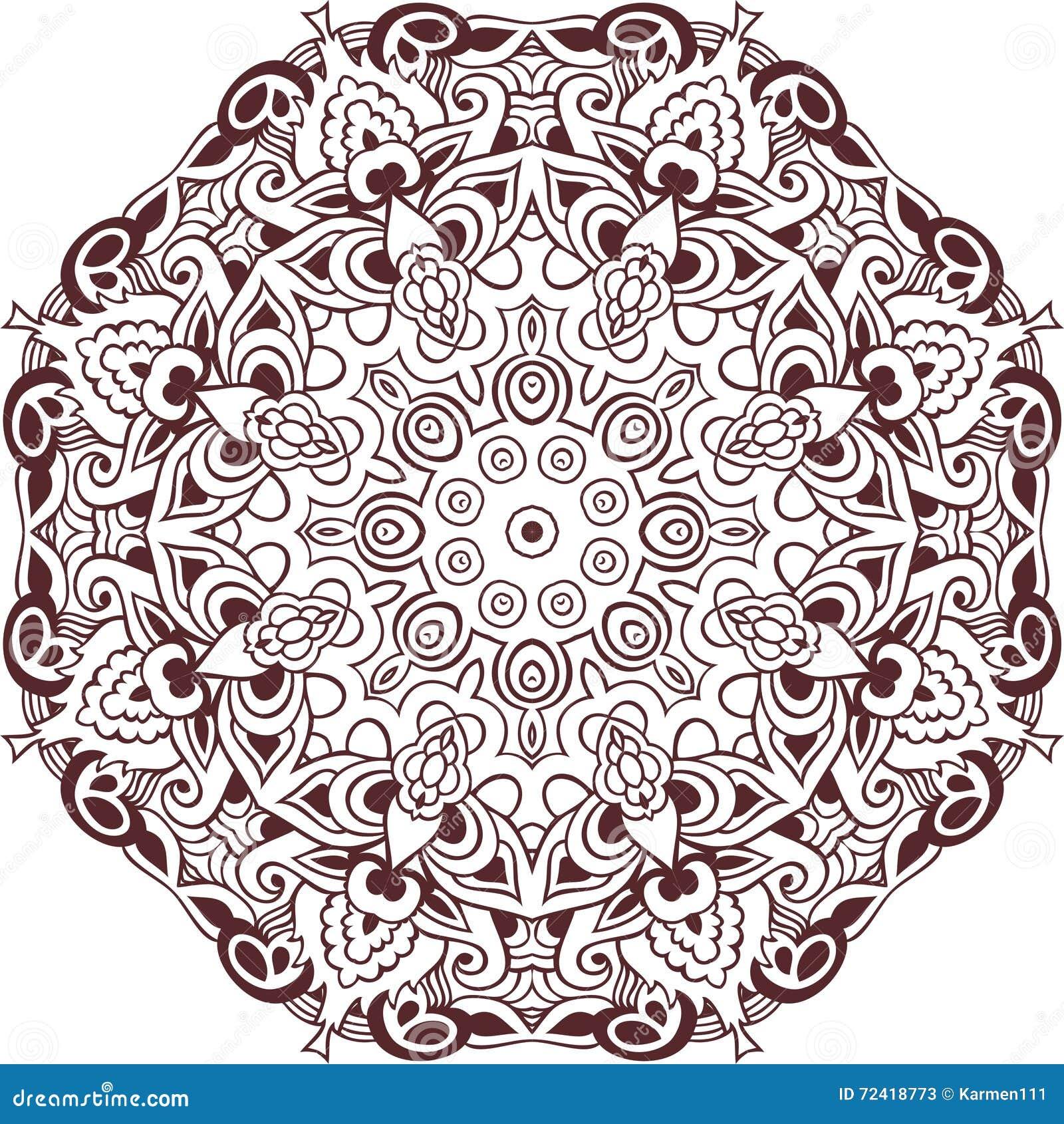 Coloriage Mandala Couleur.Cercle De Couleur De Mandala Element Paisley Livre De Coloriage De