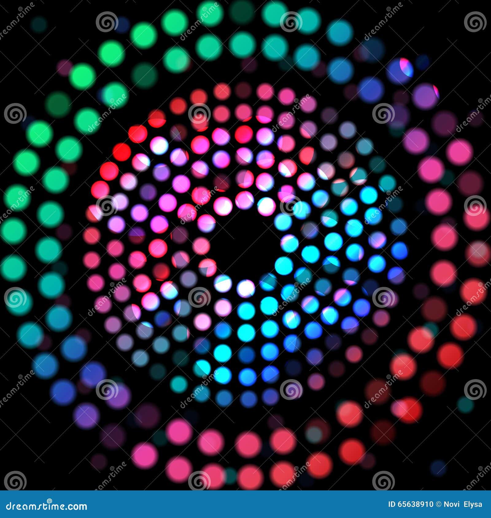 Cercle de couleur sur un fond noir