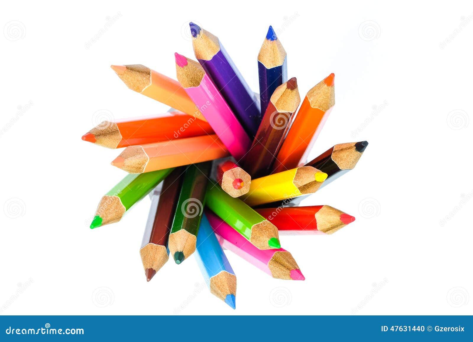 cercle de crayon de couleur photo stock image 47631440. Black Bedroom Furniture Sets. Home Design Ideas