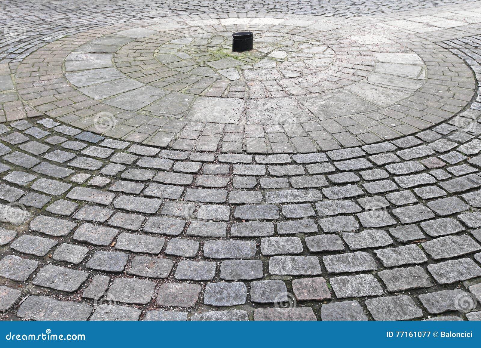 Cercle de pavé rond