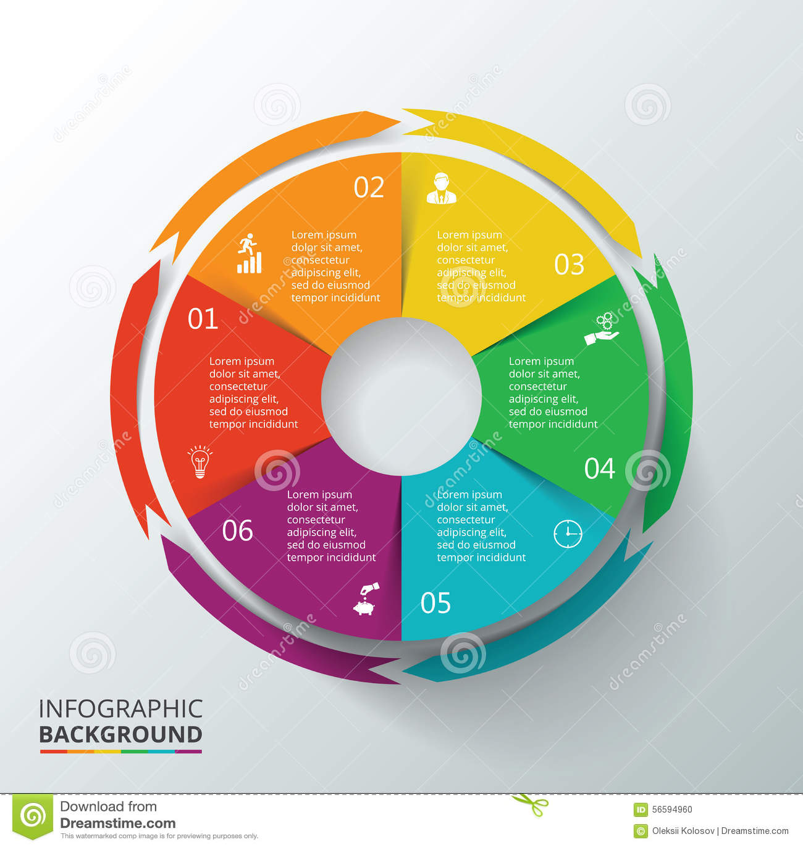 Cercle de vecteur infographic