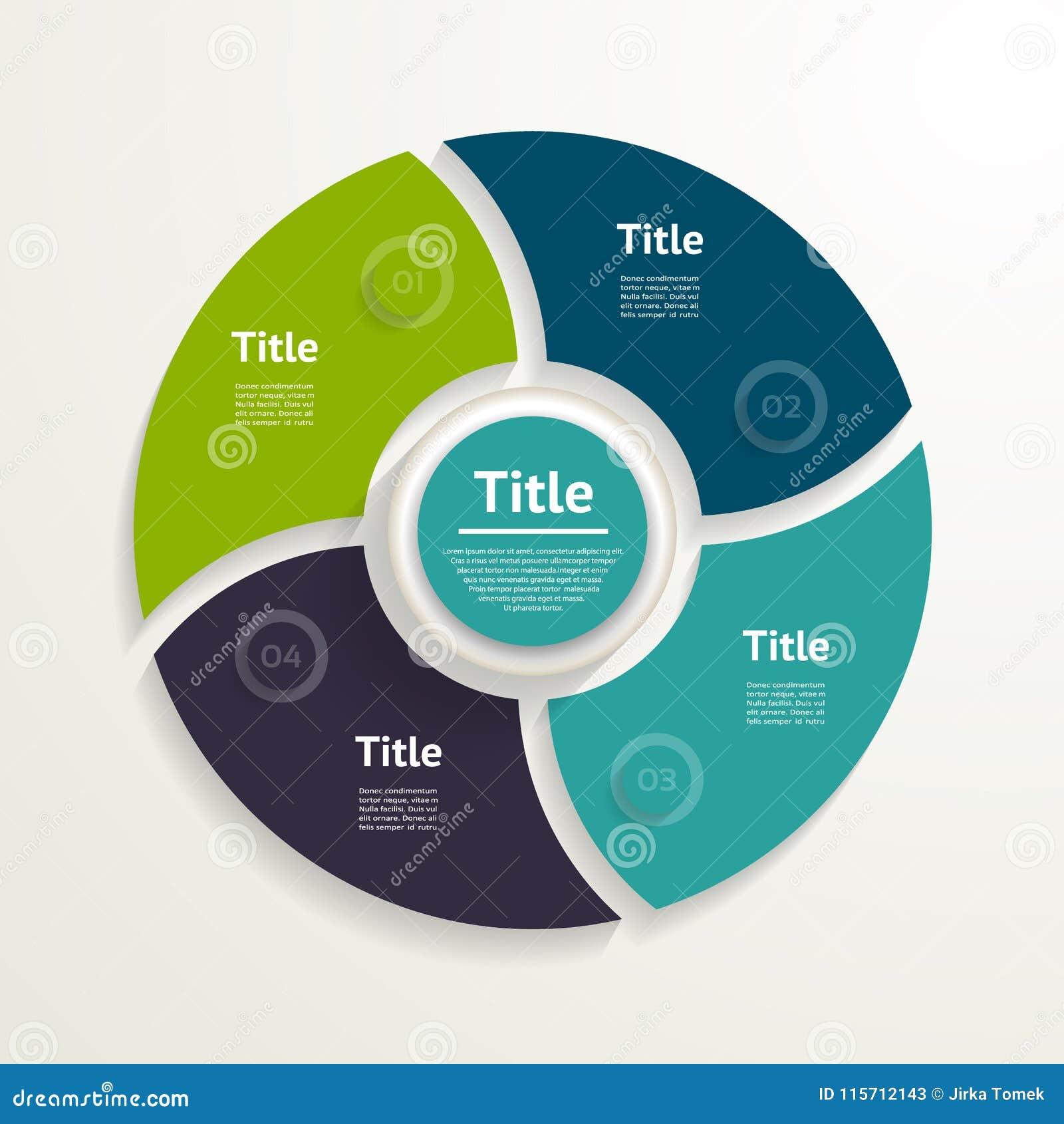 Cercle de vecteur infographic Calibre pour le diagramme, graphique, presenta