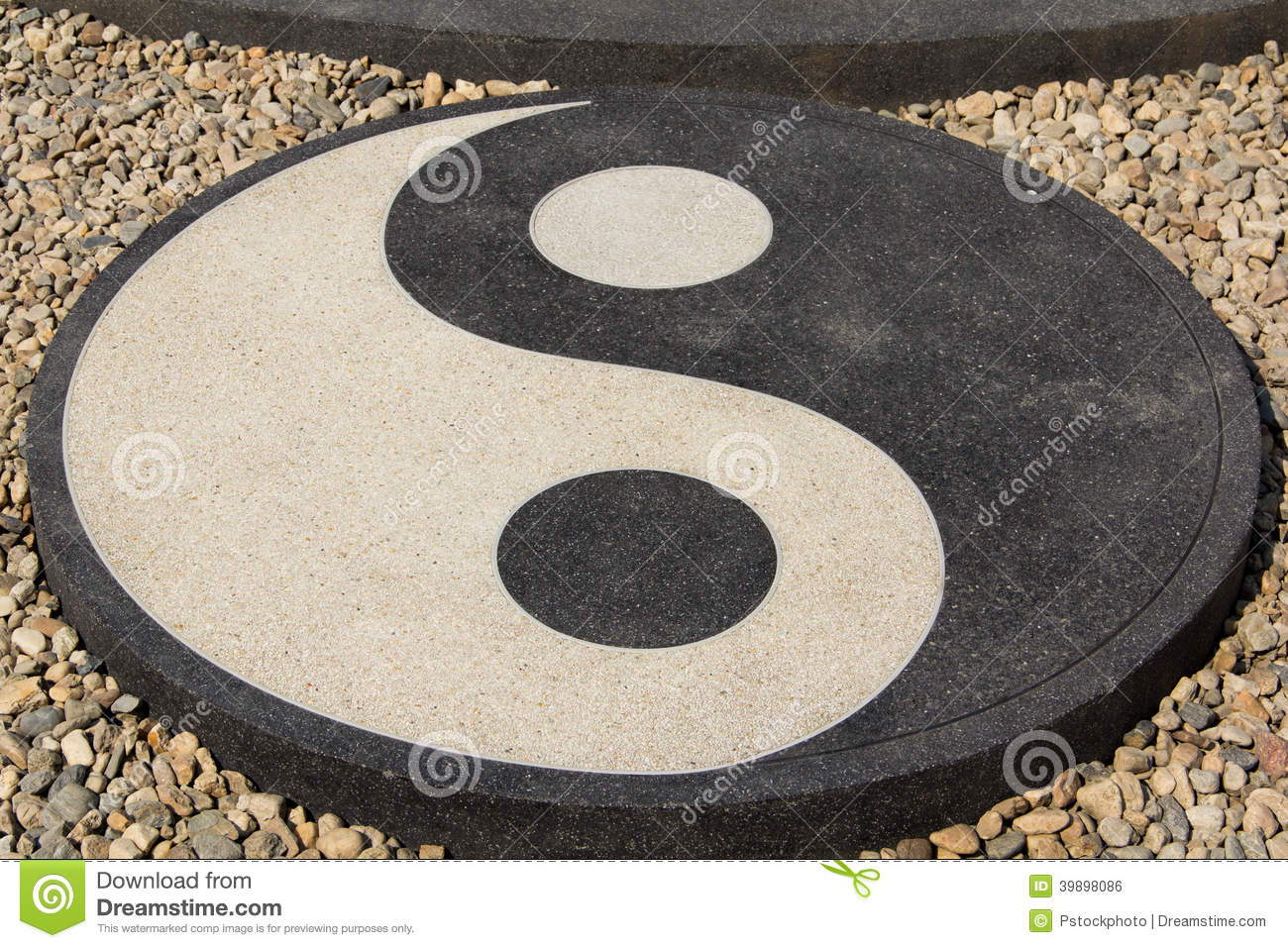 Cercle de yin yang en philosophie chinoise photo stock for Jardin yin yang