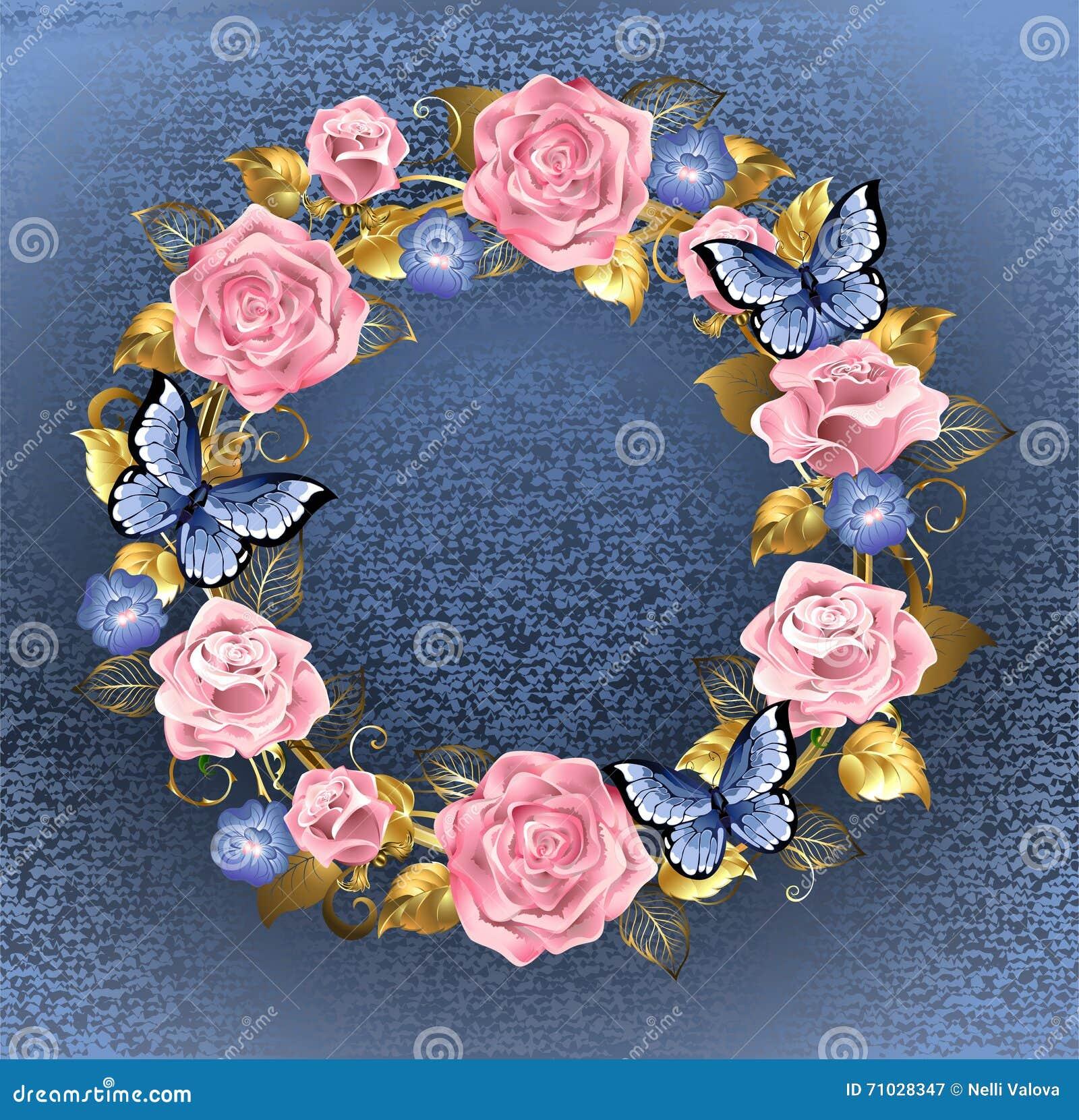 Cercle des roses roses