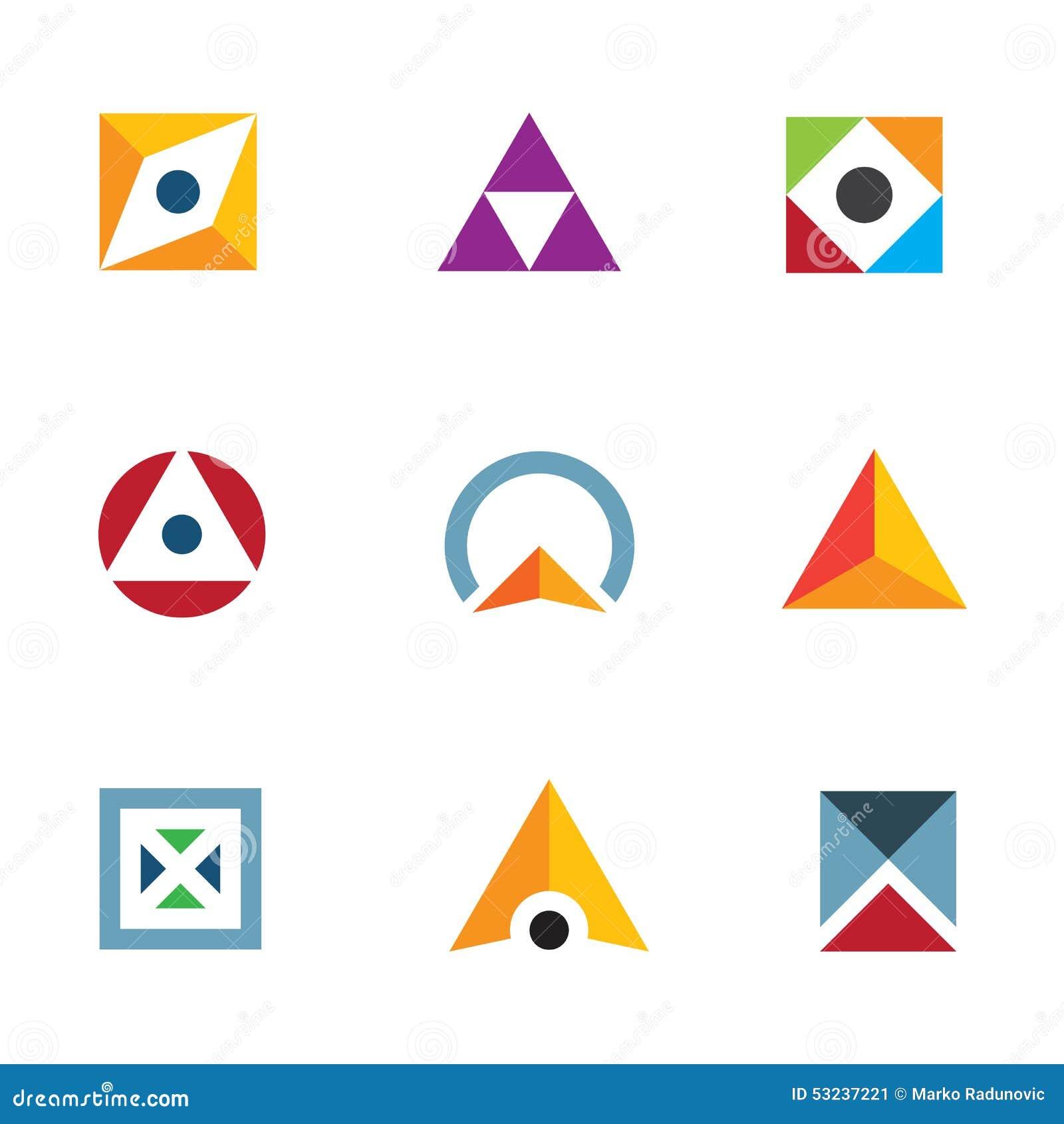 Extrêmement Cercle Géométrique De Triangle De Forme Et Icône De Inspiration De  BD15