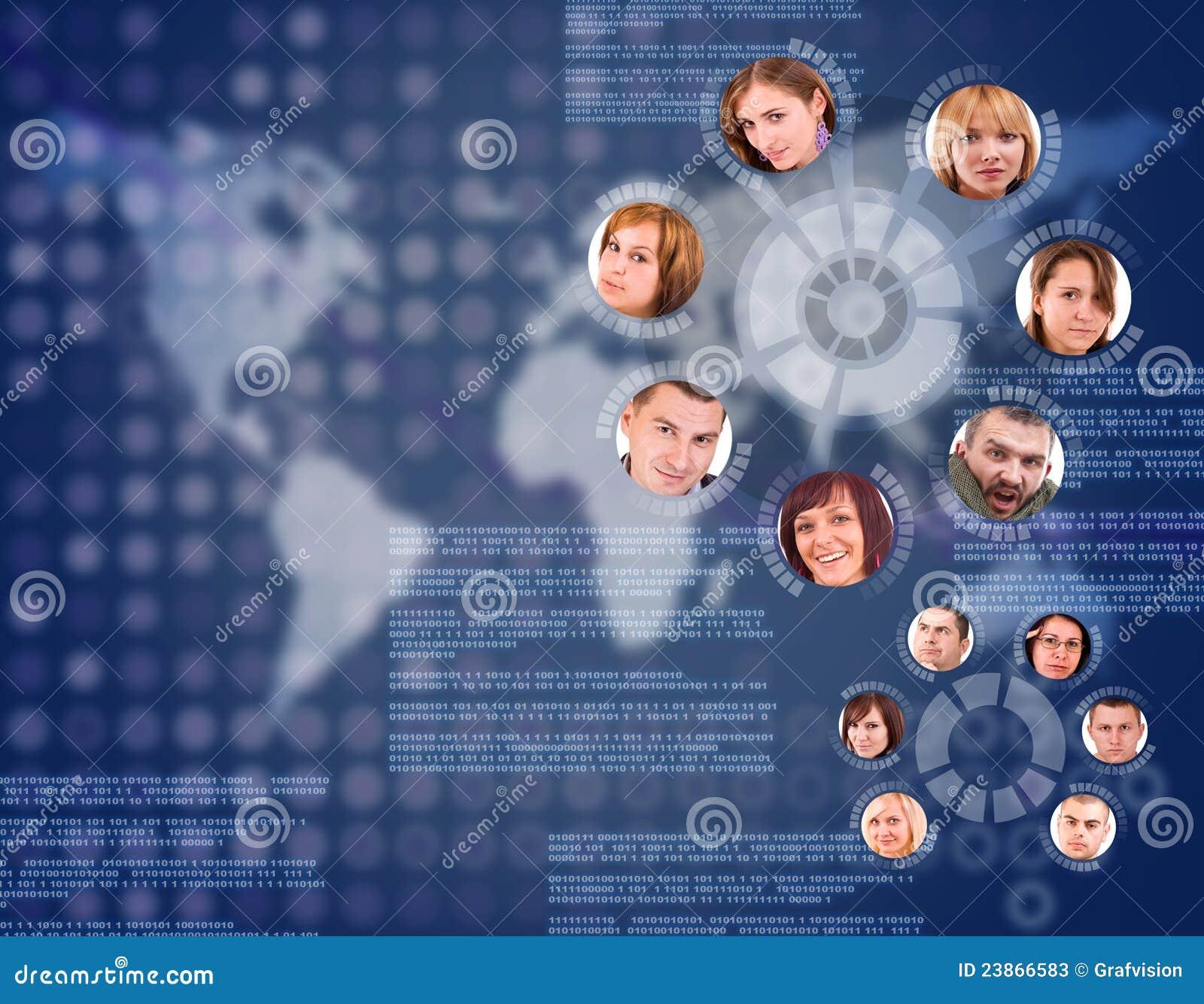 Cercle social de réseau