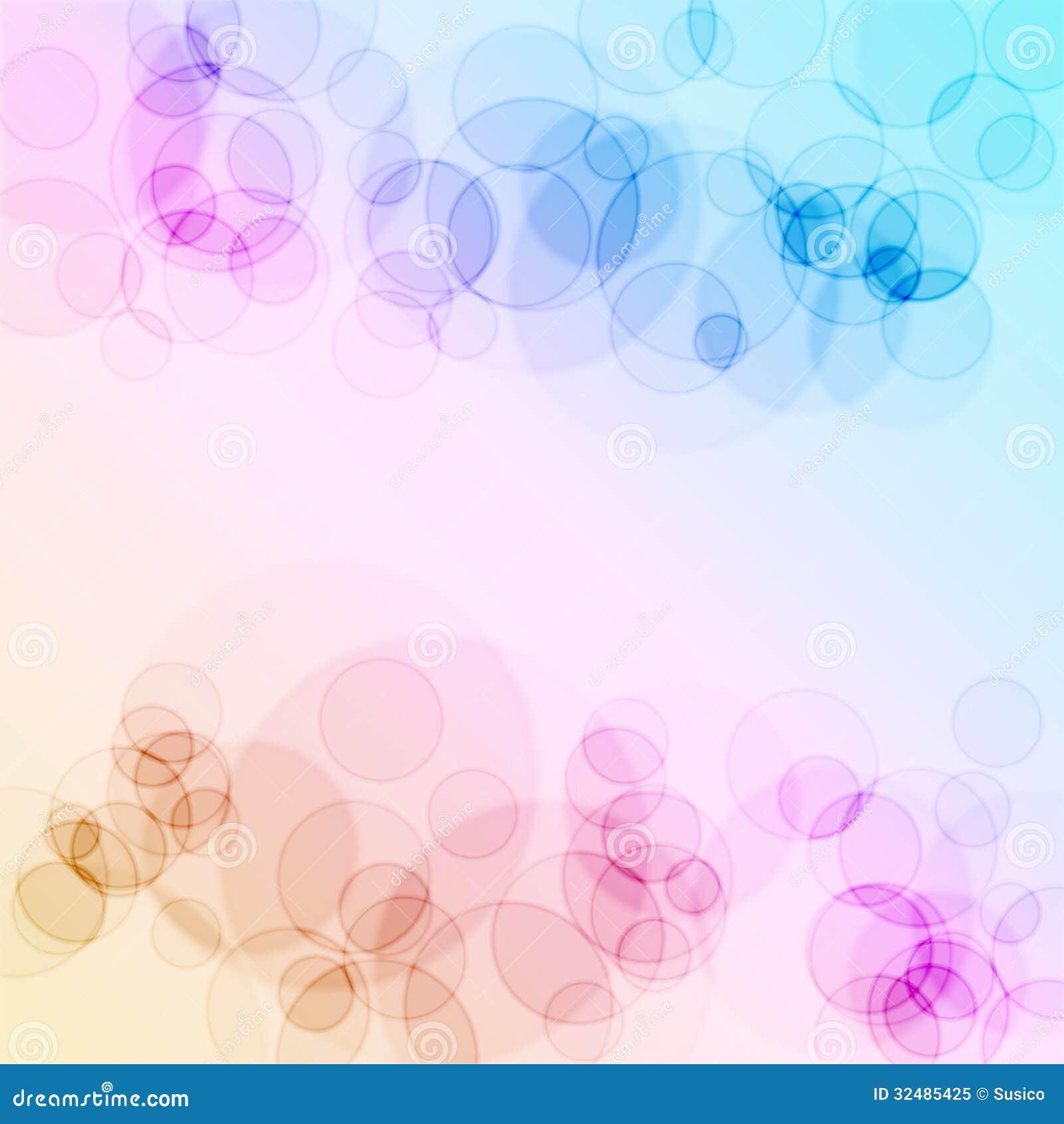 Cercles abstraits colorés de bokeh pour l usage de fond