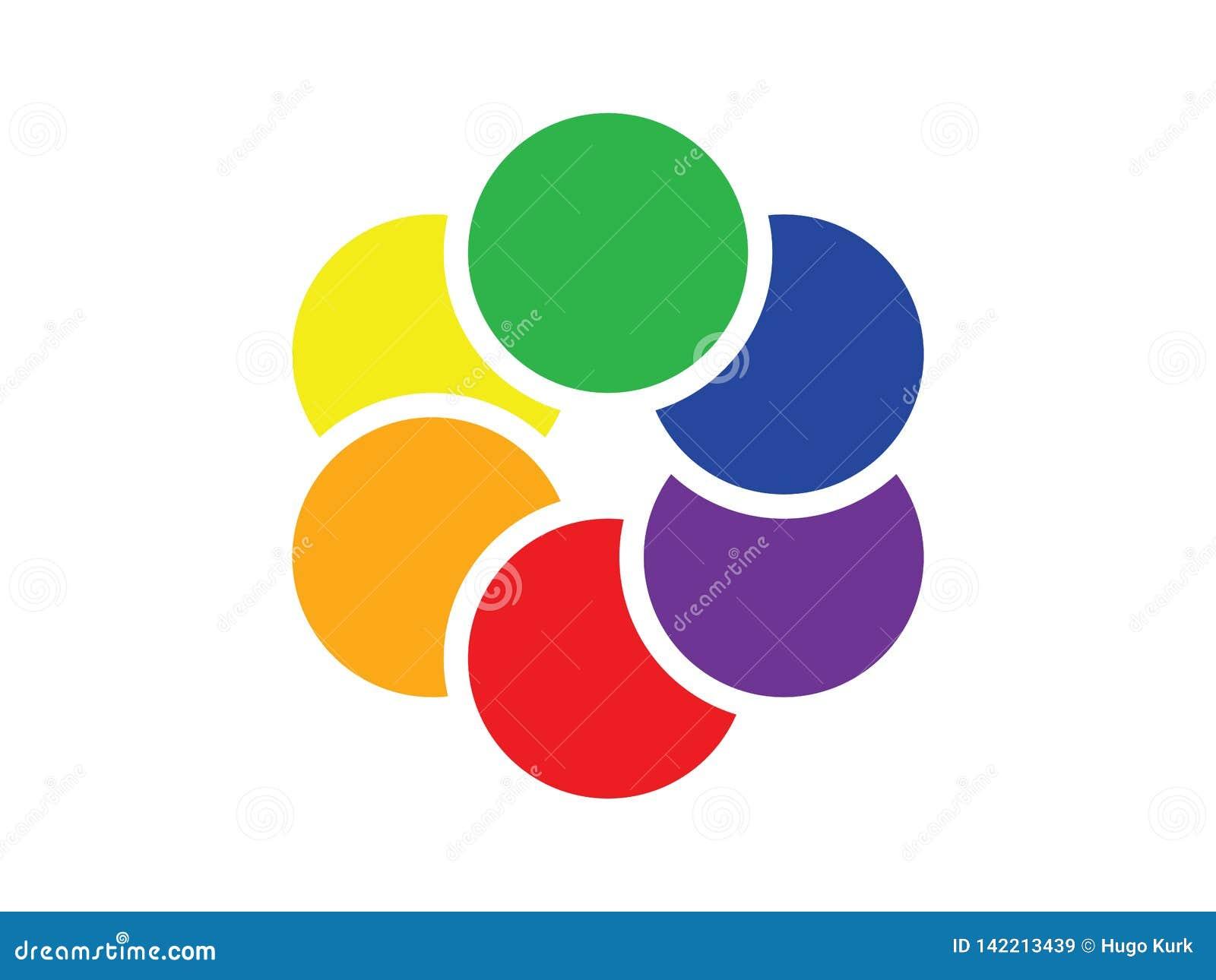 Cercles colorés de recouvrement