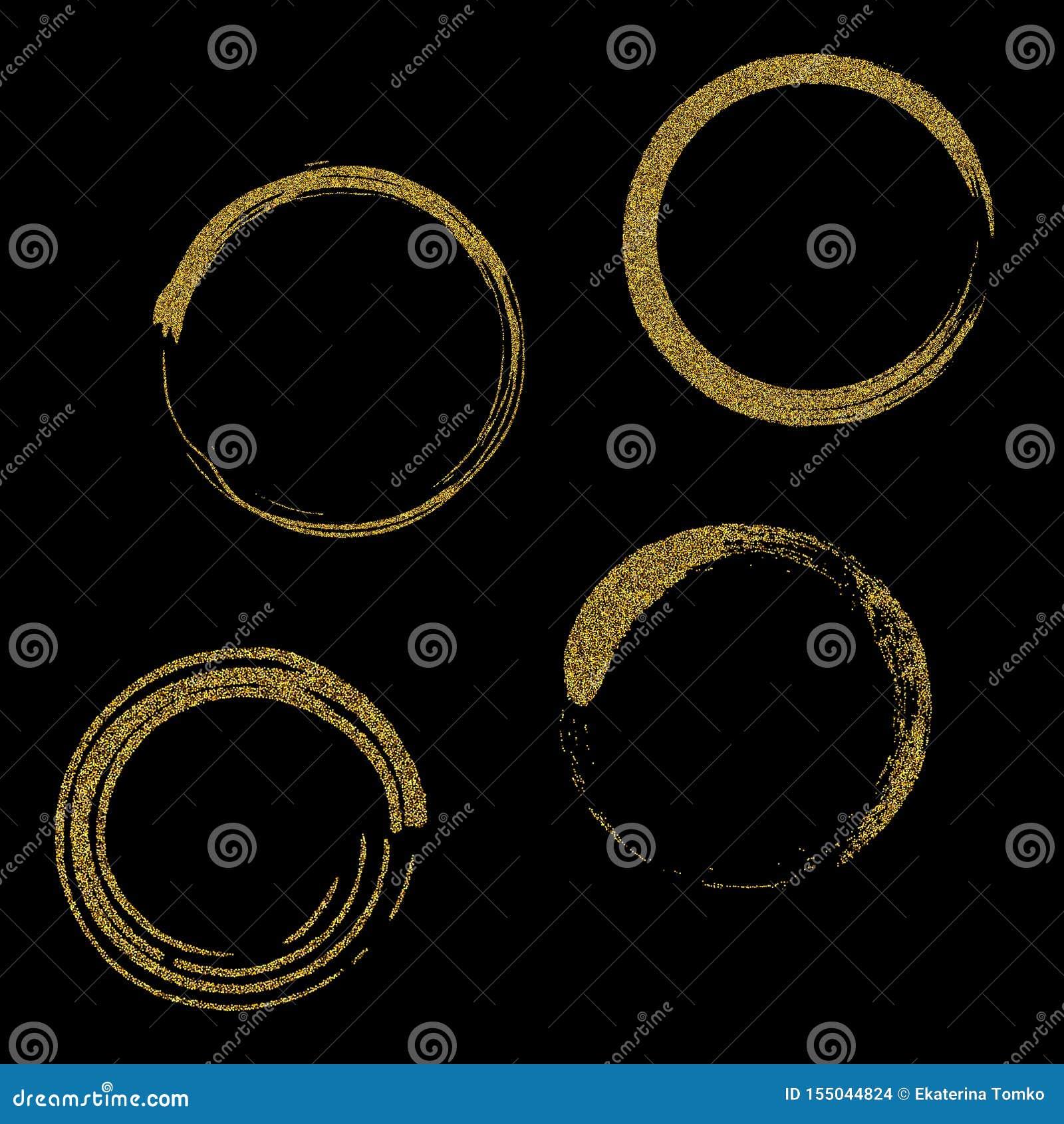 Cercles et anneaux d or Élément dorant de conception de texture de fond de fête d or ornements pour de nouvelle année et de Noël