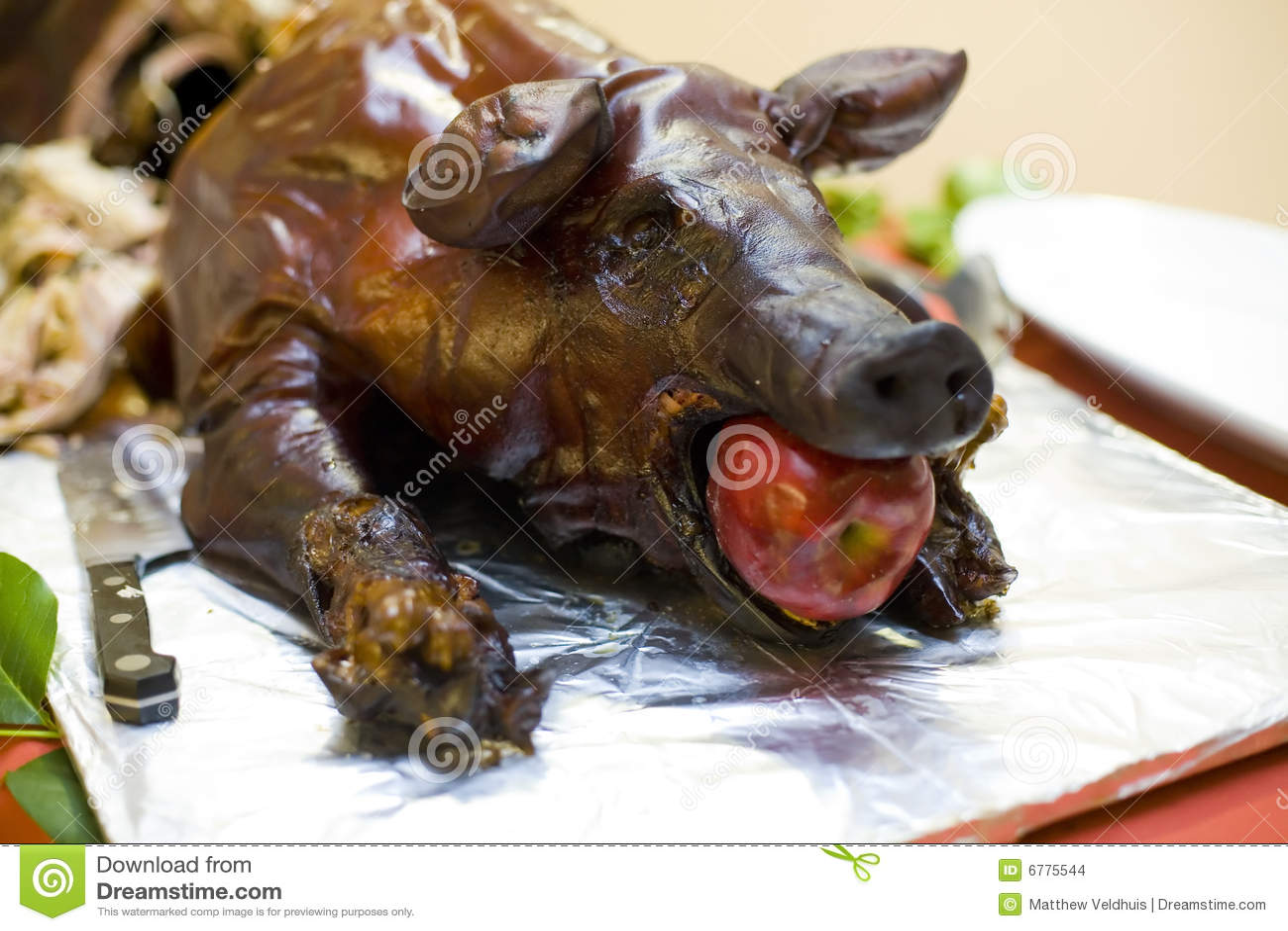 cerdo con manzanas