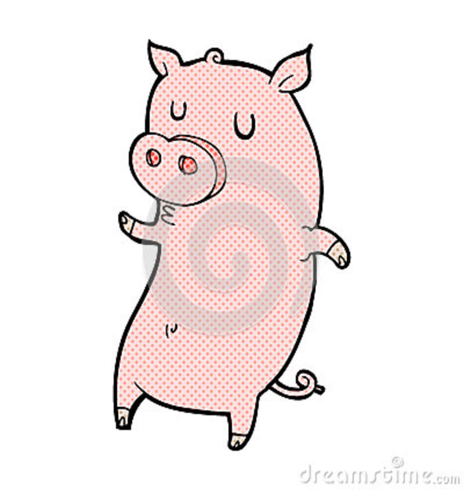 Cerdo cómico divertido de la historieta