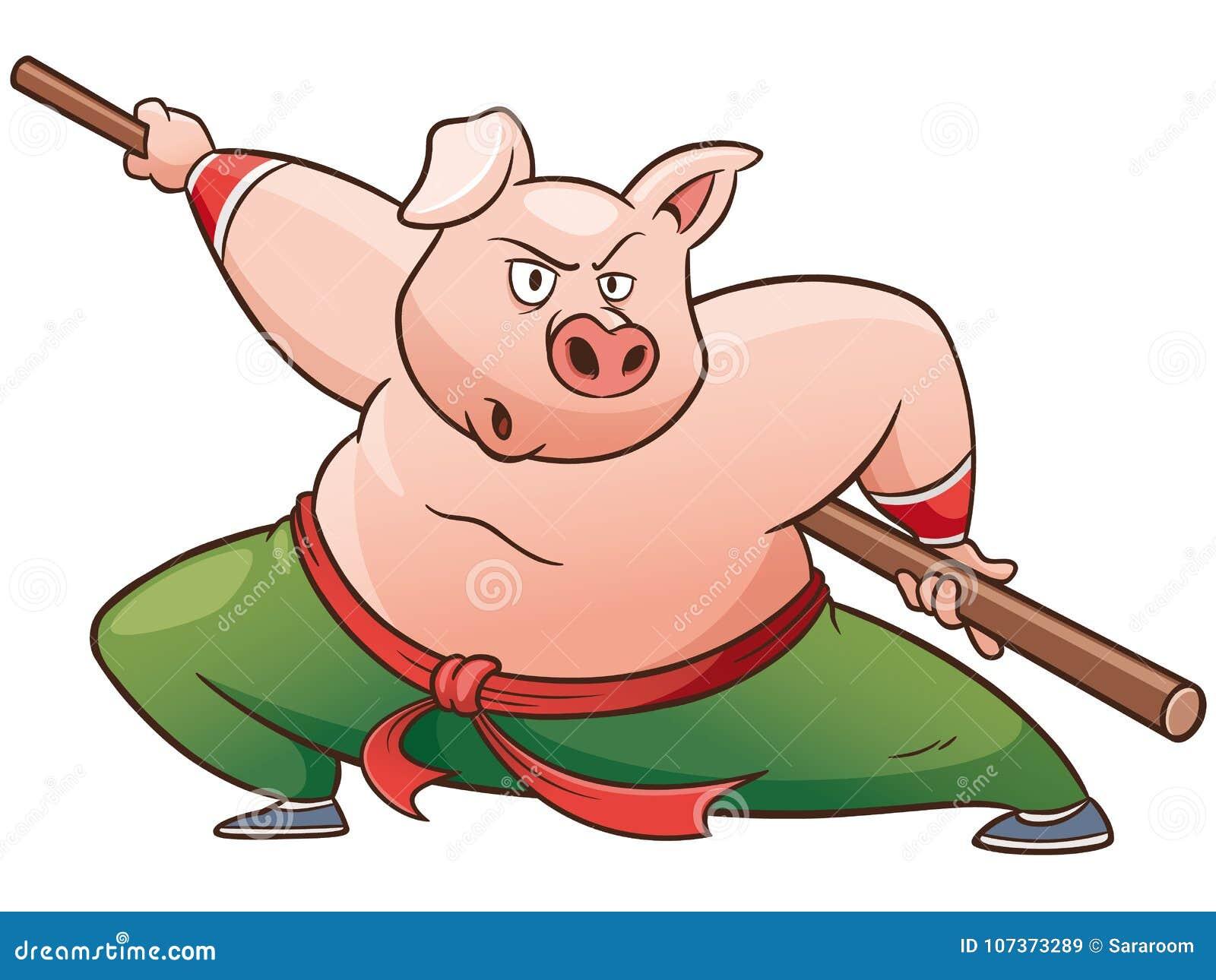 Cerdo del kung-fu