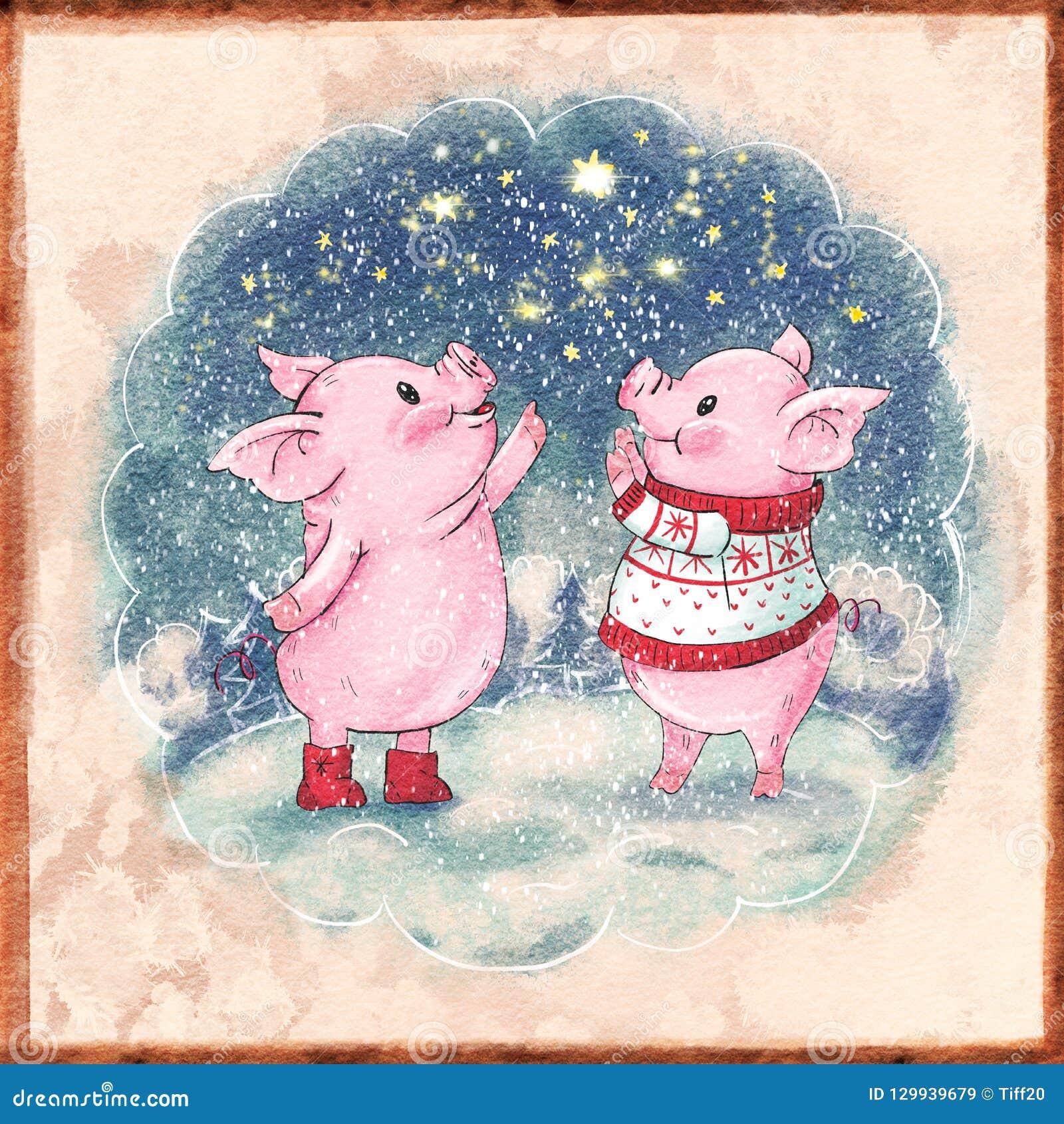 Cerdo lindo de la historieta