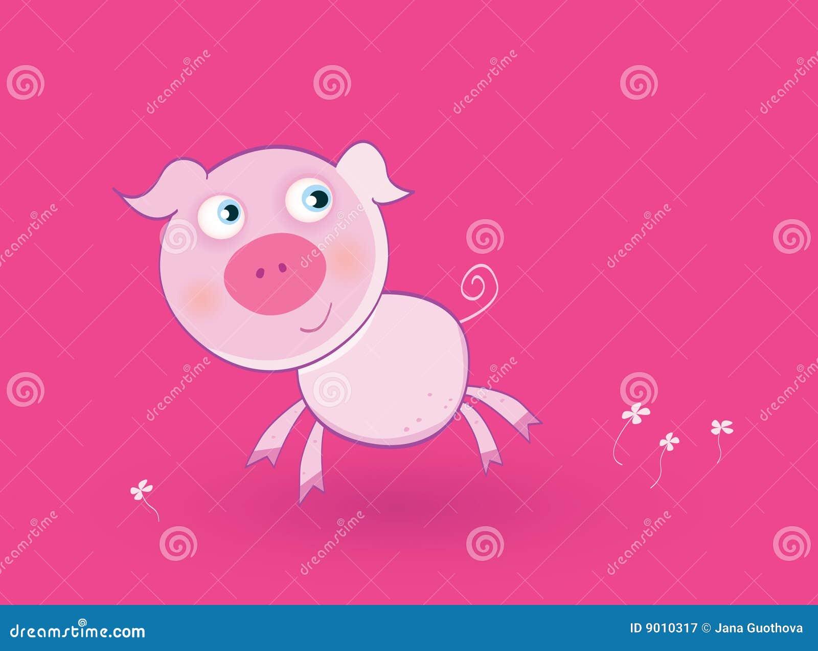 Cerdo rosado del bebé ilustración del vector. Ilustración de bebé ...
