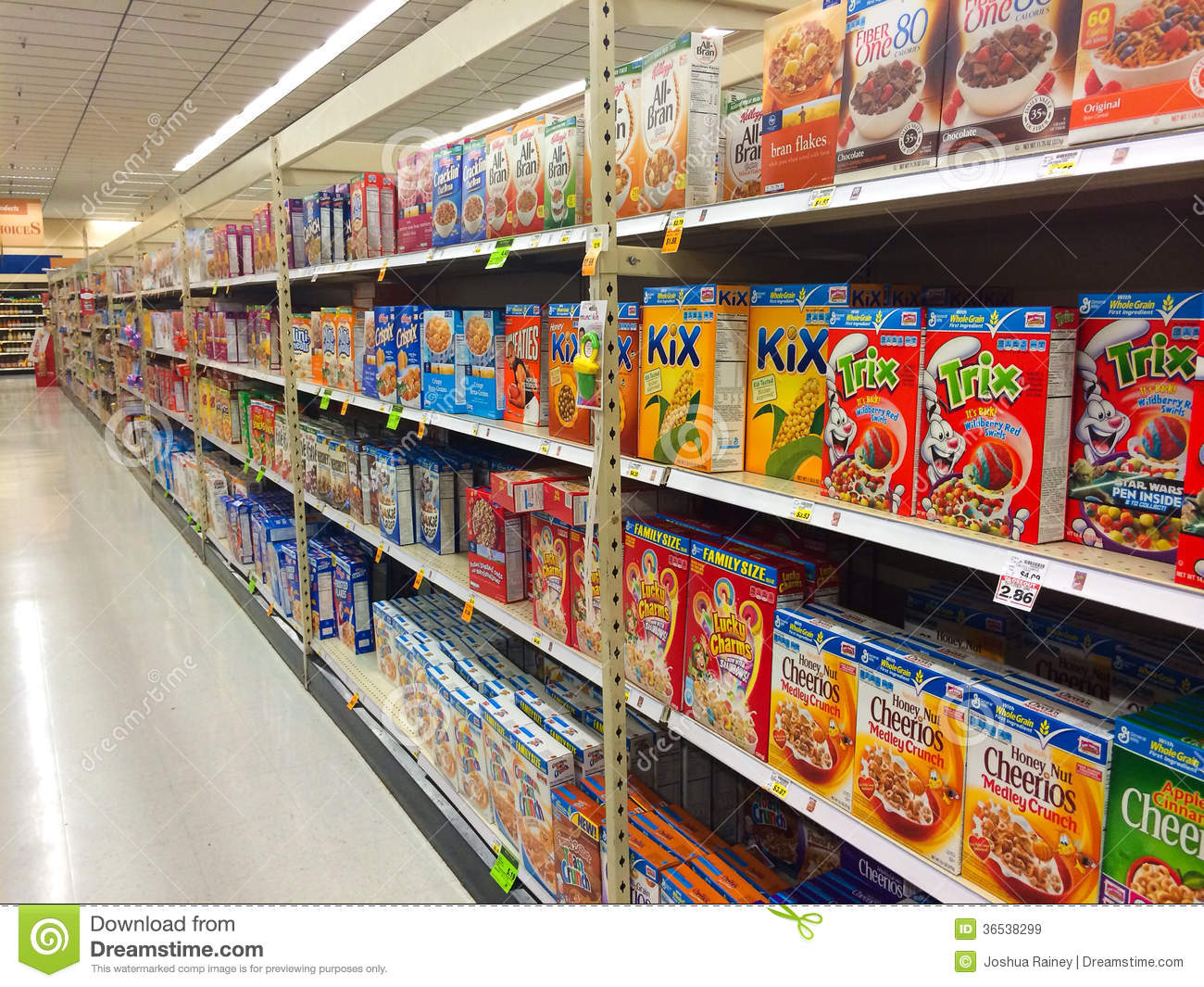 Cereal Aisle Fred Meyer Springfield Or Editorial Stock