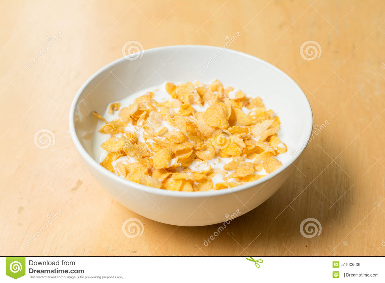 cereal bowl with milk stock photo image 51933539