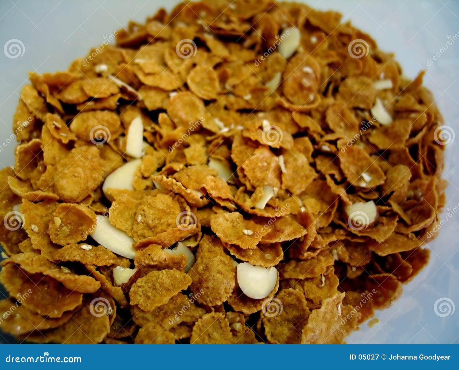 Cereal del crujido de la almendra