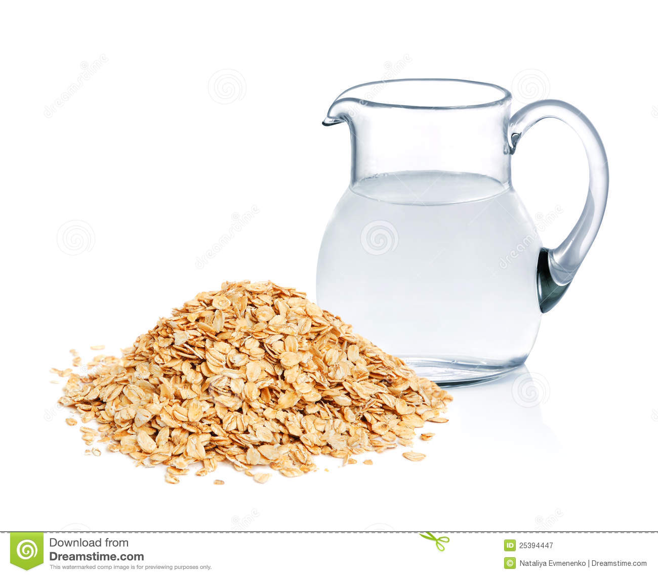 Cereal Flakes And Fresh Water Royalty Free Stock