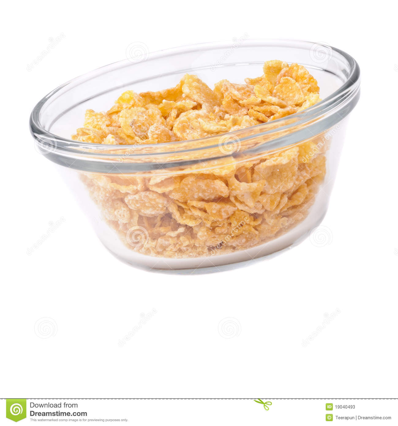 Cereal In A Glassy Cup Stock Photos