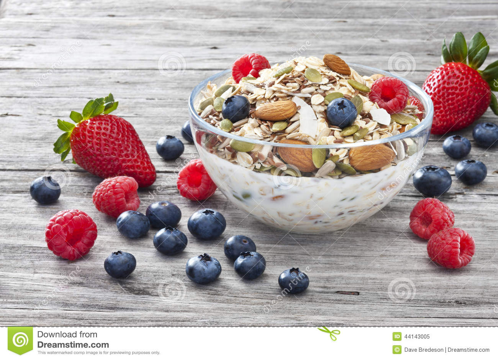 Cereal Muesli Granola Berries Breakfast