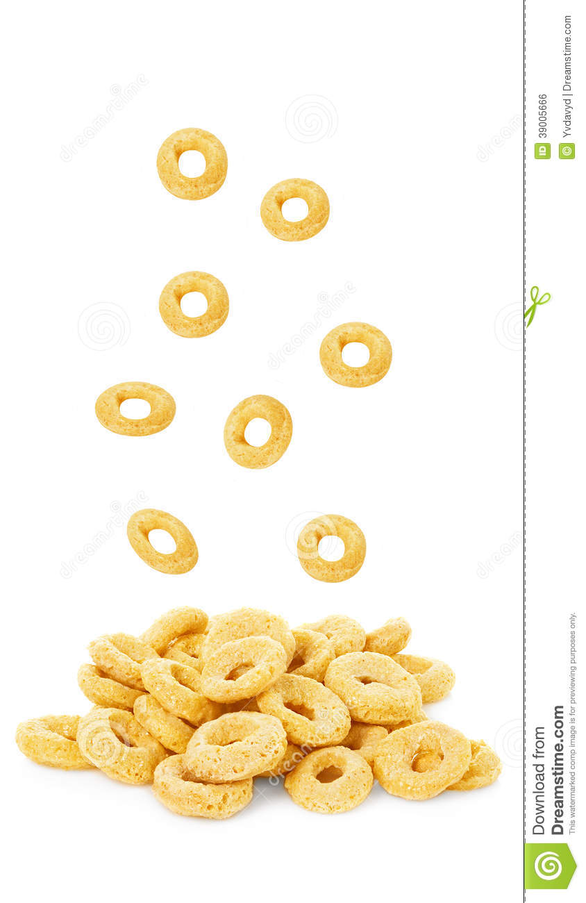 Cereal ring isolated stock photo image 39005666