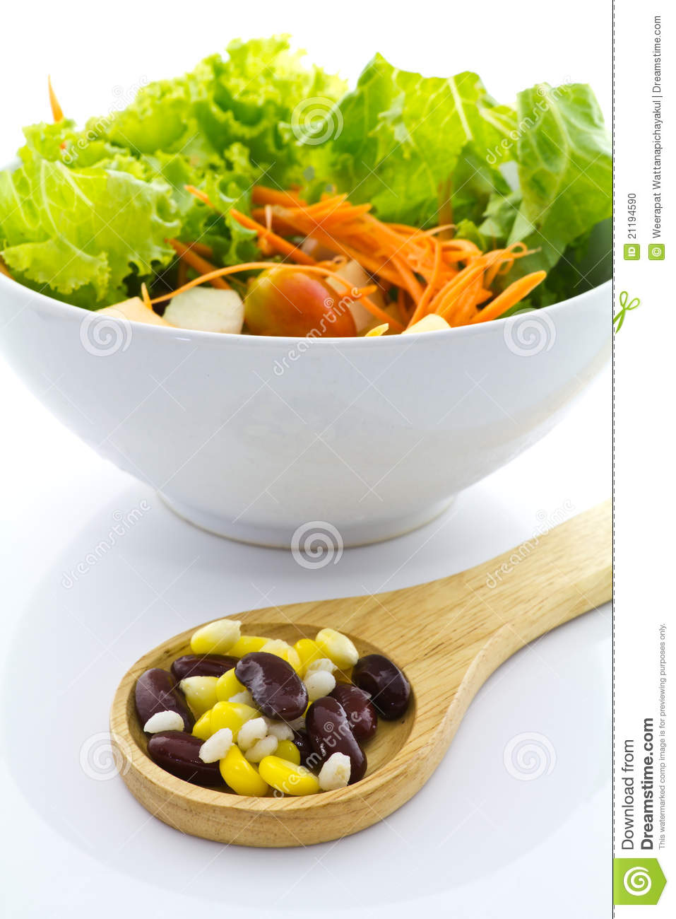 Cereal and salad