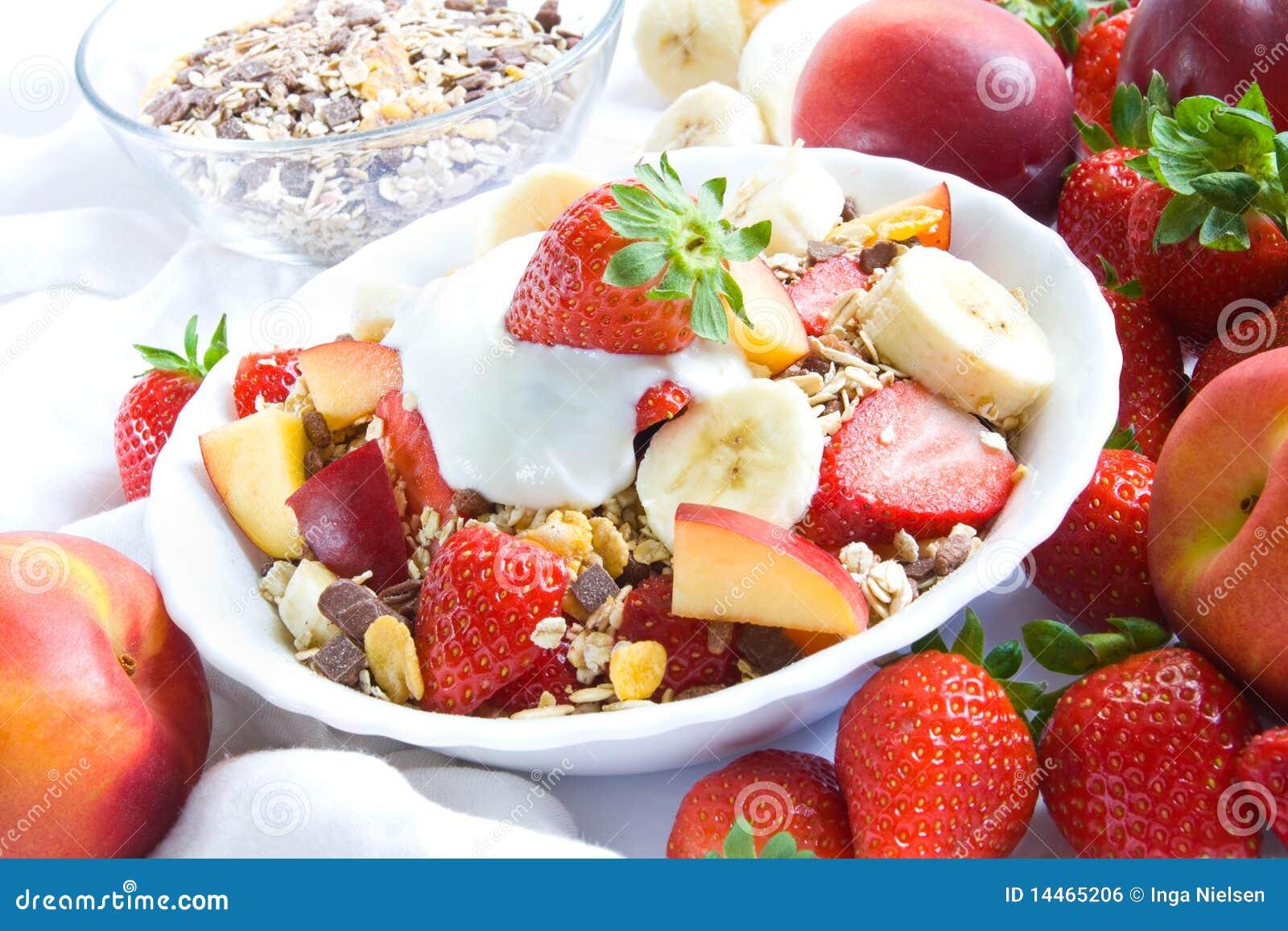 Cereales con las frutas