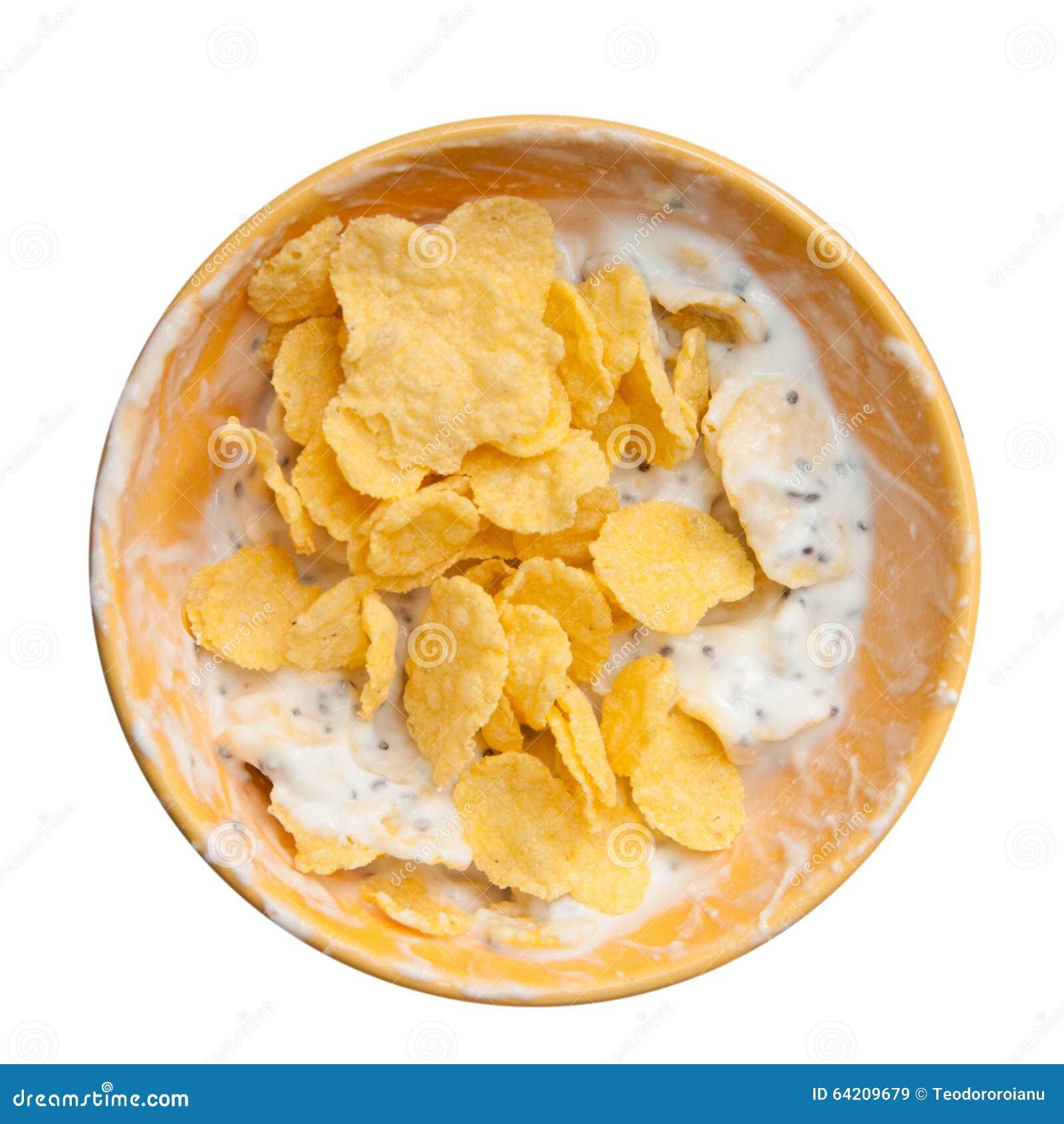 Cereales y mezcla del yogur