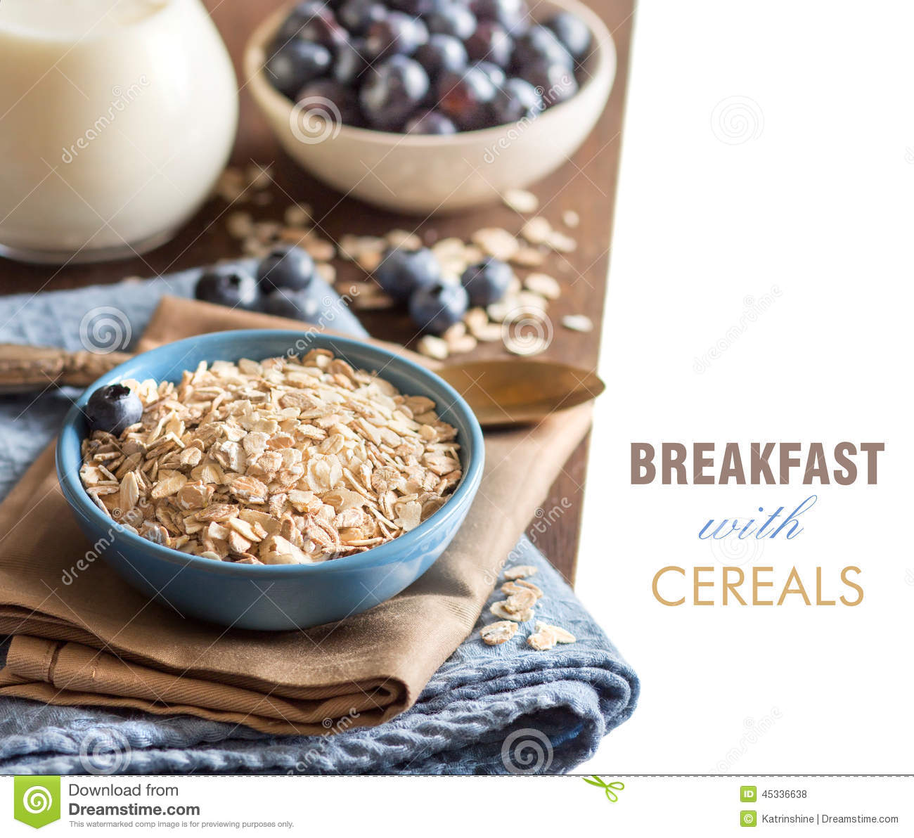 Cereals In A Bowl Stock Photo. Image Of Nutrition, Bowl