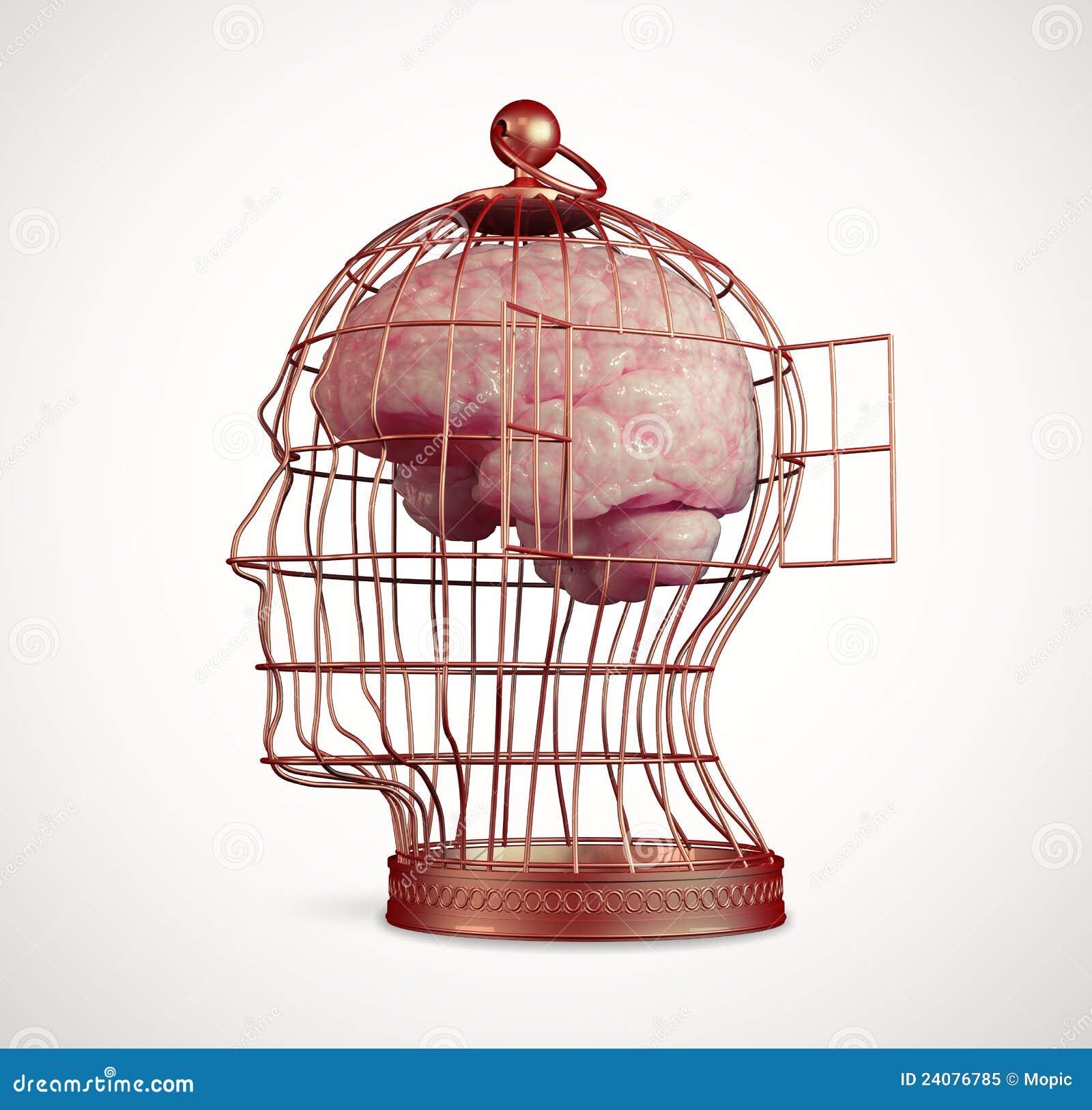 Cerebro dentro de una jaula