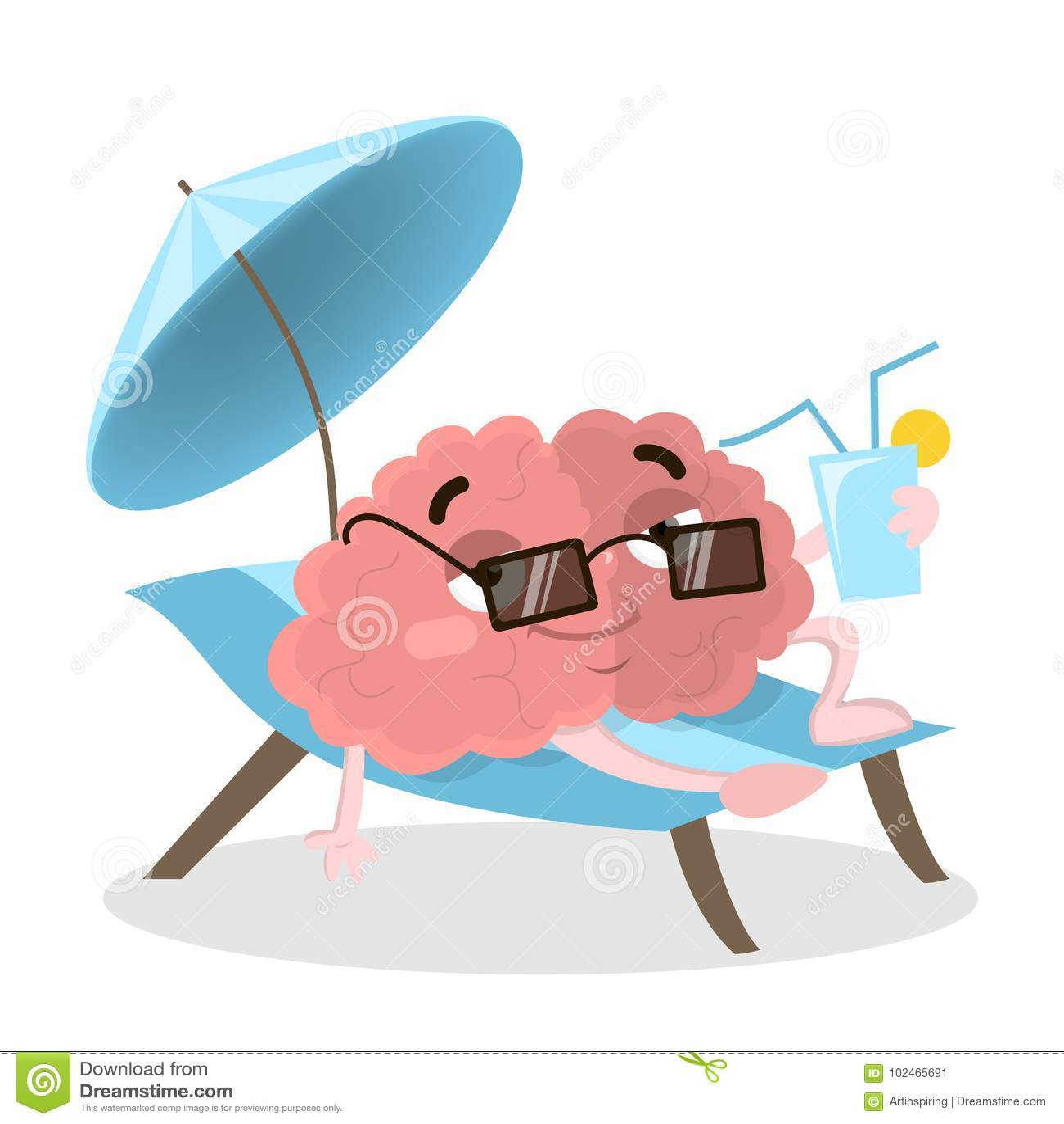 Cerebro el vacaciones ilustración del vector. Ilustración de ...