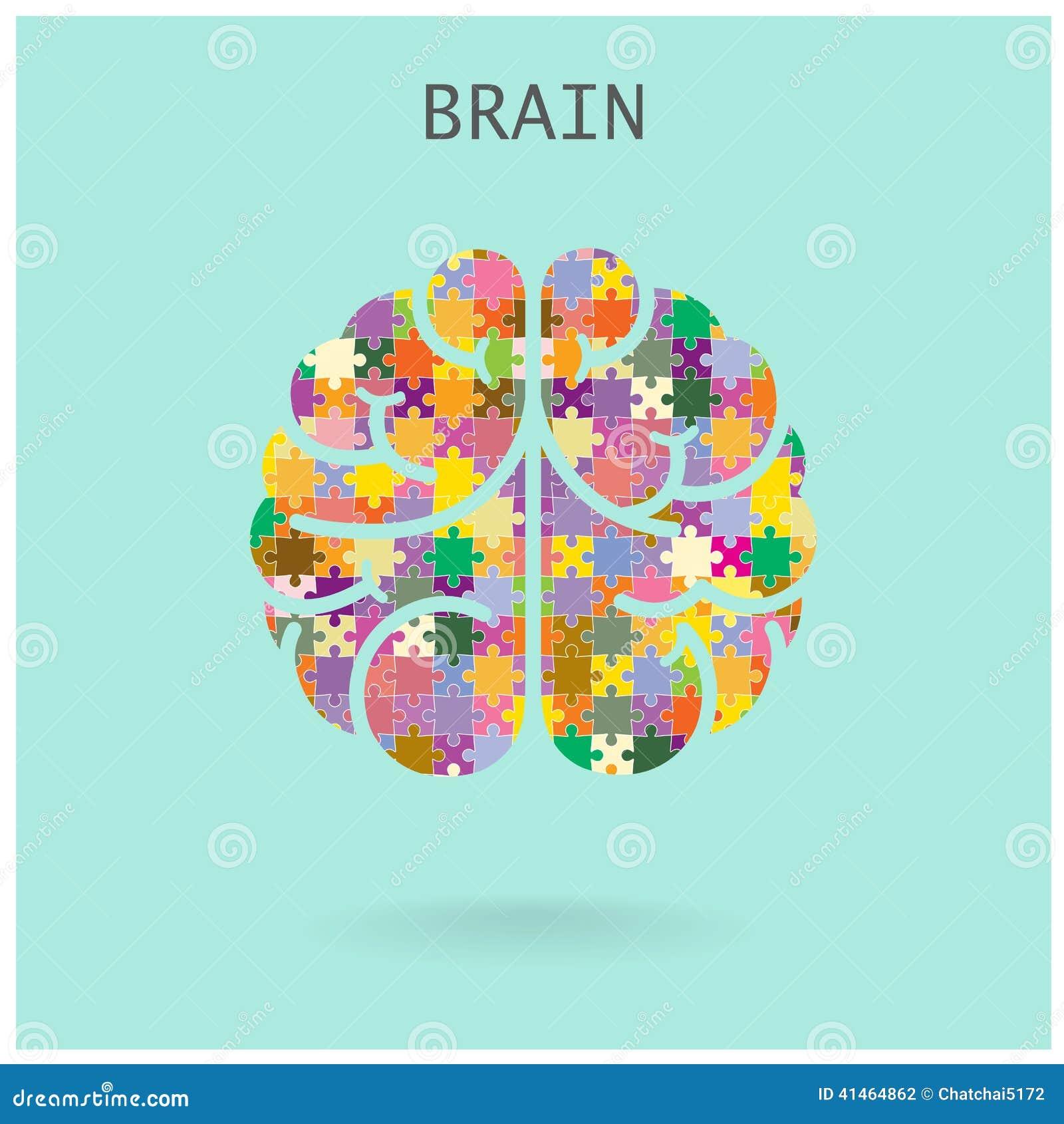 Cerebro izquierdo y derecho del rompecabezas creativo en el fondo, CCB abstracto