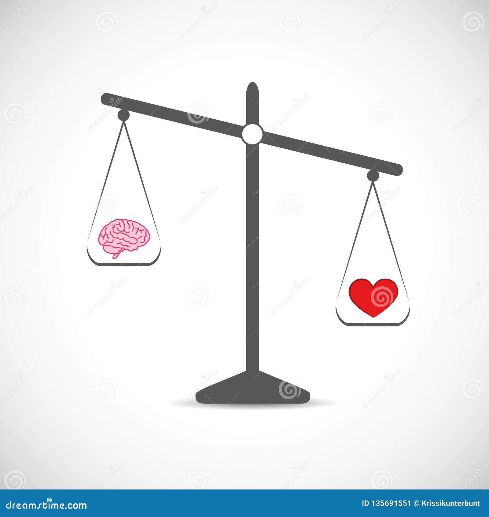 Cerebro y hogar rojo en equilibrio