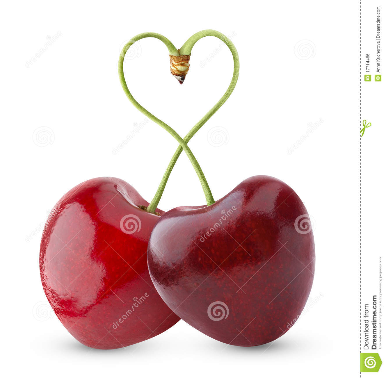 Cereja doce Heart-shaped